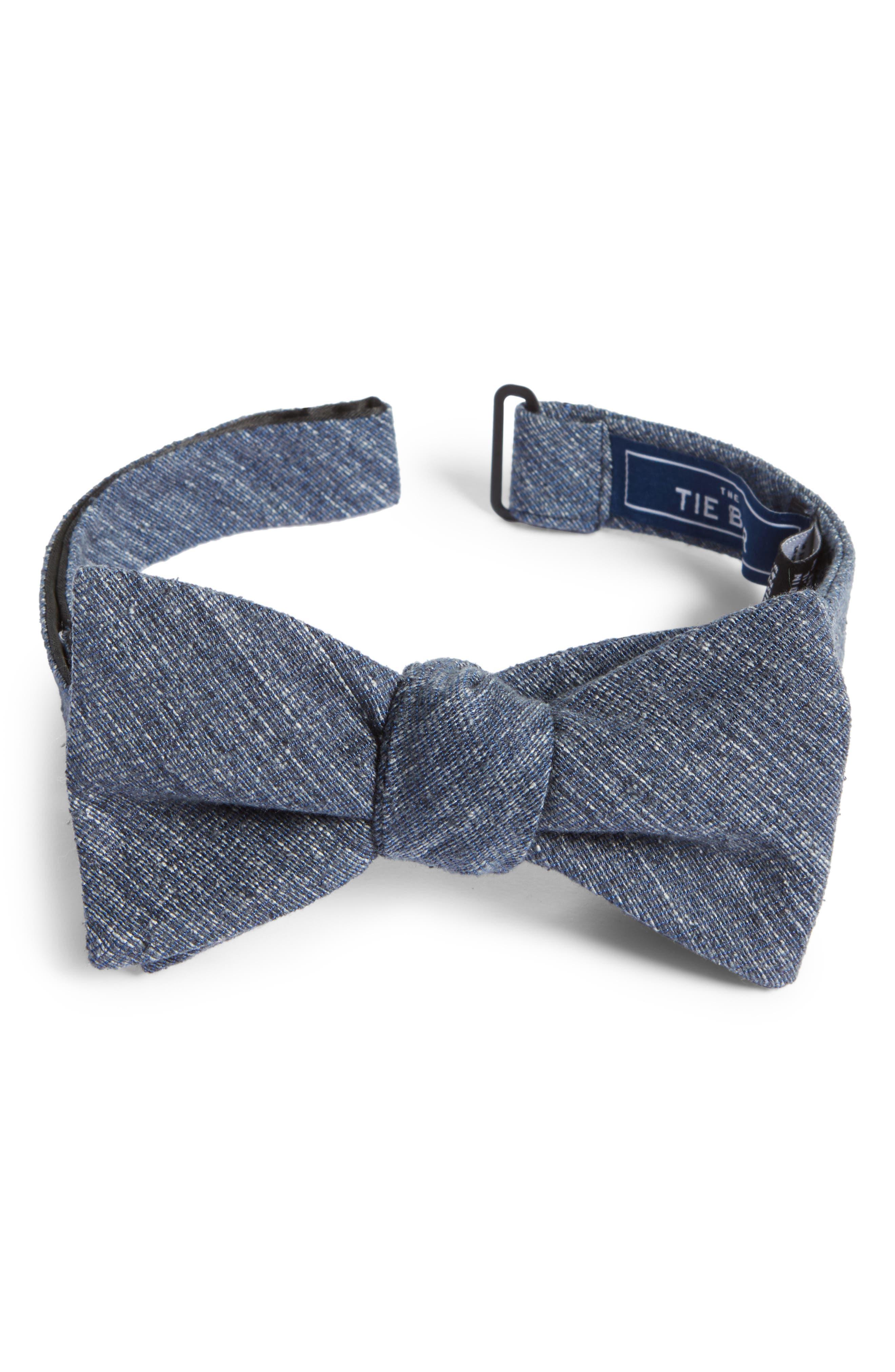 West Ridge Silk Bow Tie,                             Main thumbnail 1, color,                             Navy