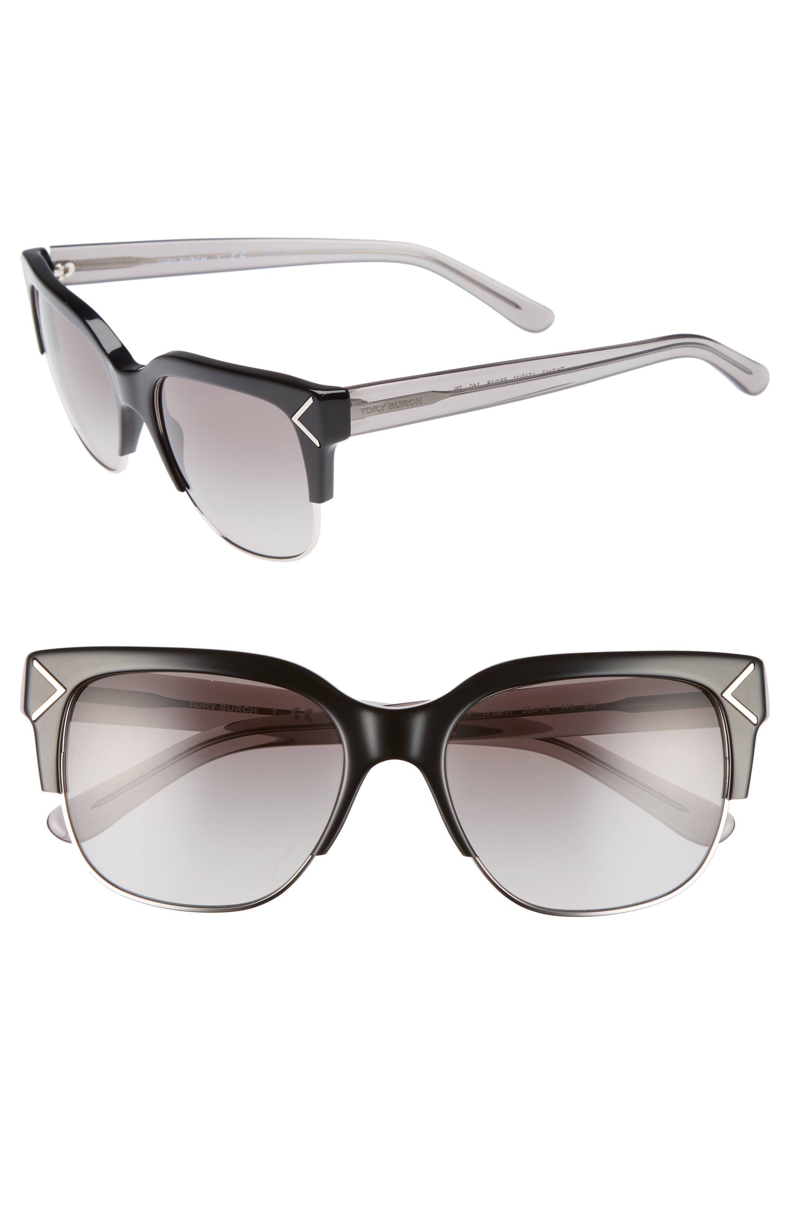 Main Image - Tory Burch 55mm Gradient Square Sunglasses