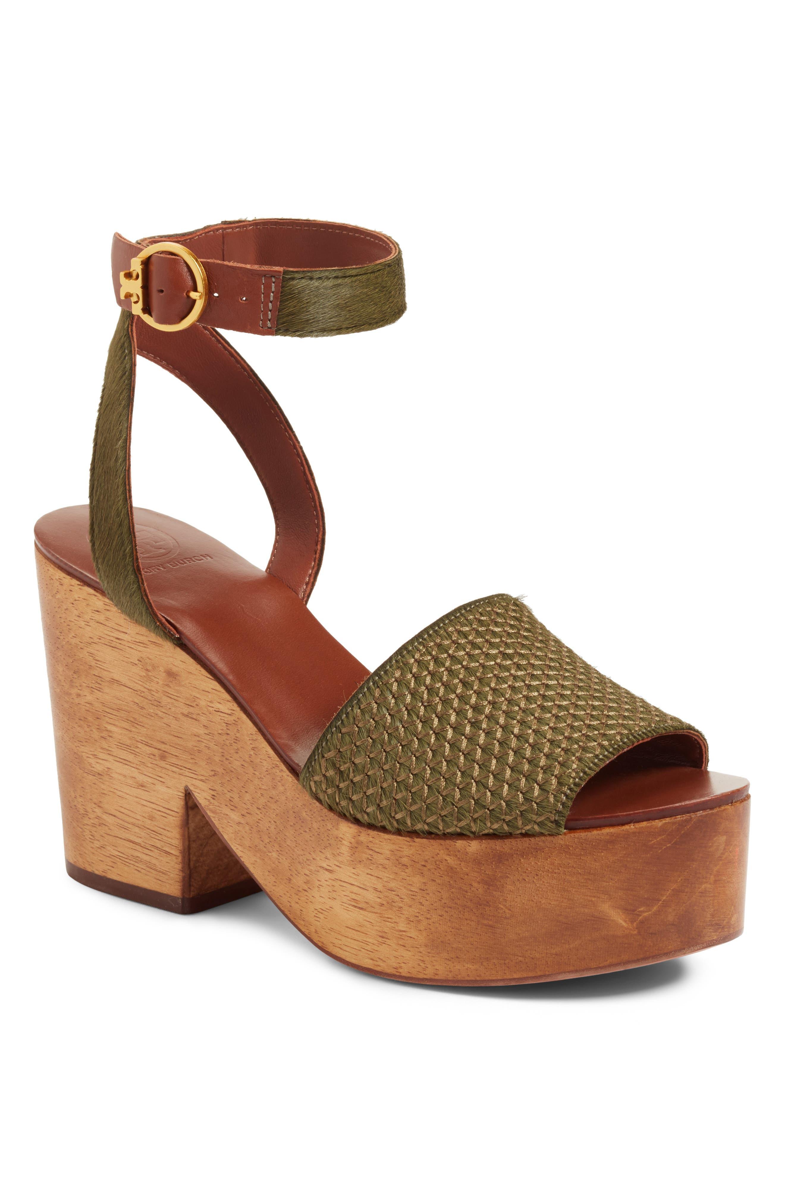 3d02845339c8 Tory Burch Camilla Genuine Calf Hair Platform Sandal In Olivo ...