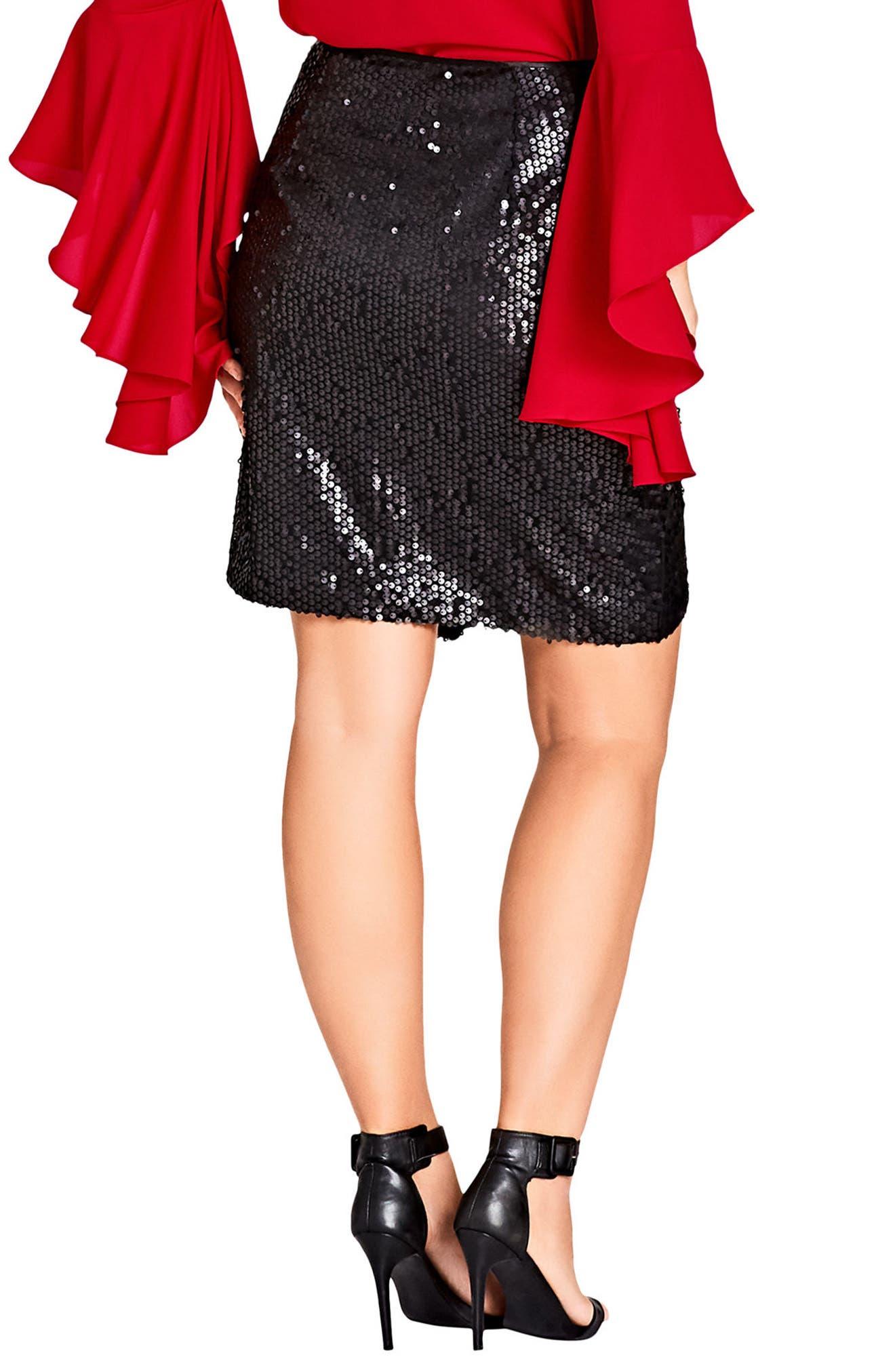 Alternate Image 2  - City Chic Dazzle Me Skirt (Plus Size)
