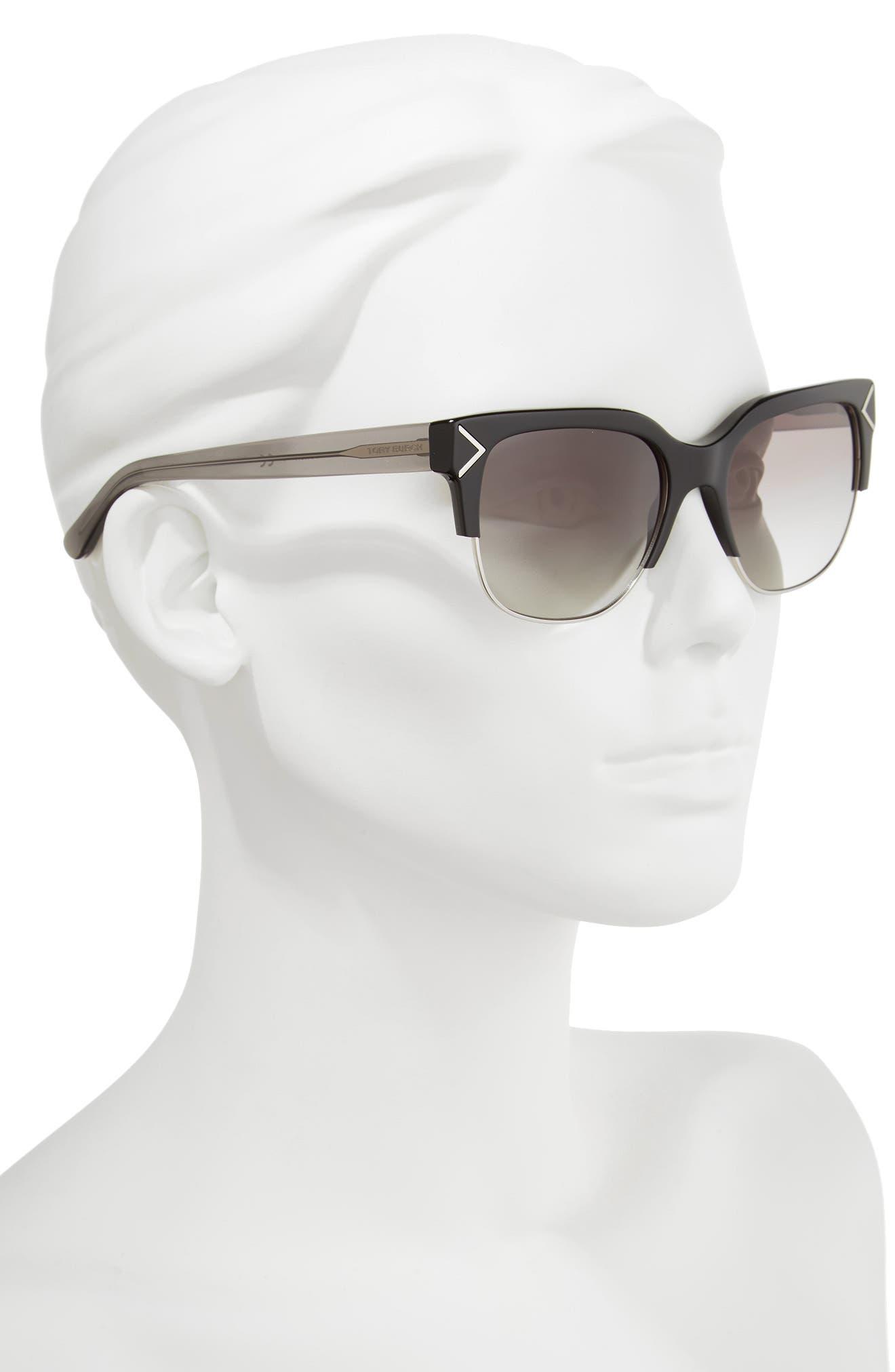 Alternate Image 2  - Tory Burch 55mm Gradient Square Sunglasses