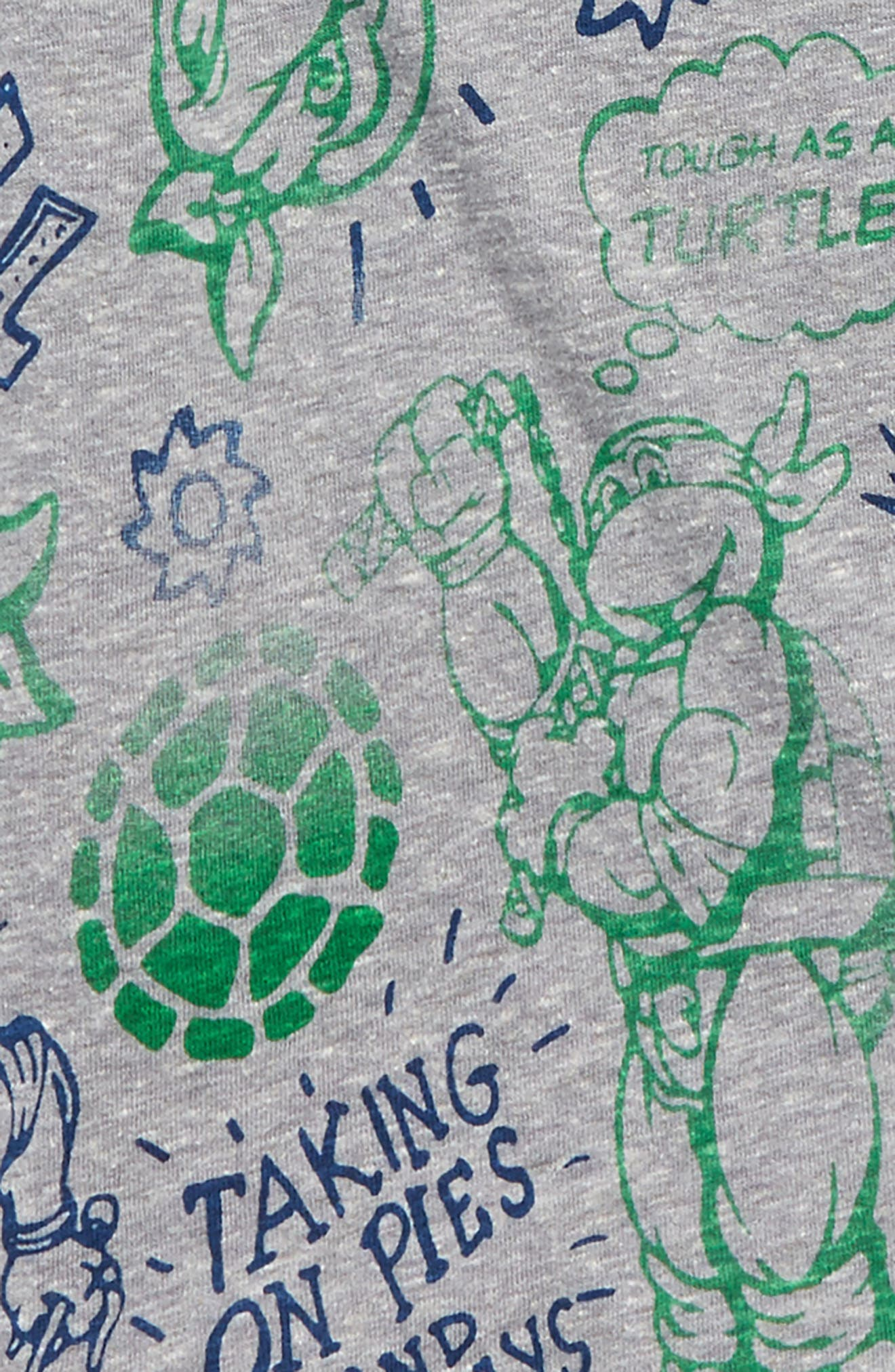 - TMNT All Over Print Raglan T-Shirt,                             Alternate thumbnail 2, color,                             Heather Grey