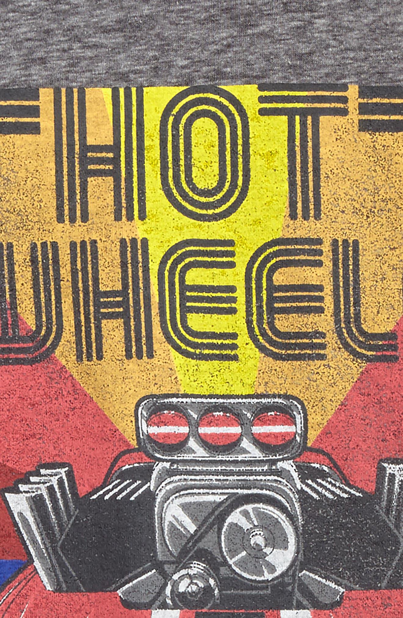Alternate Image 2  - Happy Threads Hot Wheels Graphic Ringer T-Shirt (Toddler Boys & Little Boys)
