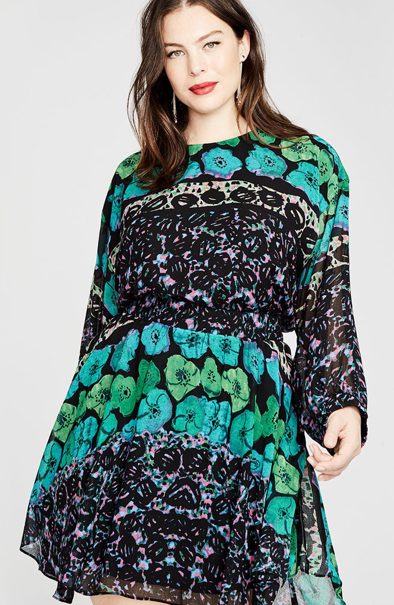Alternate Image 3  - RACHEL Rachel Roy Easy Floral Dress (Plus Size)