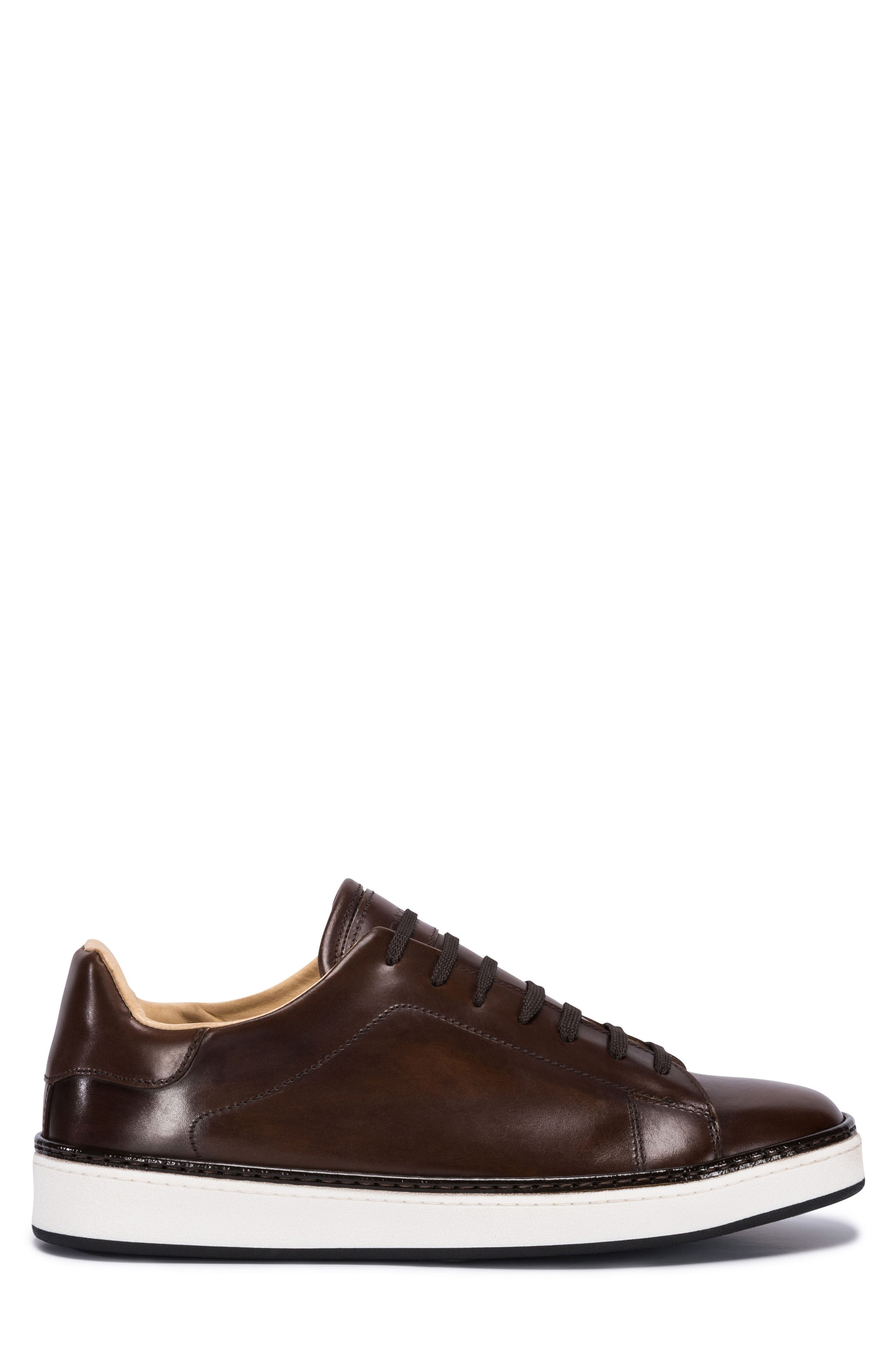 Firenze Low Top Sneaker,                             Alternate thumbnail 3, color,                             Burgundy Leather