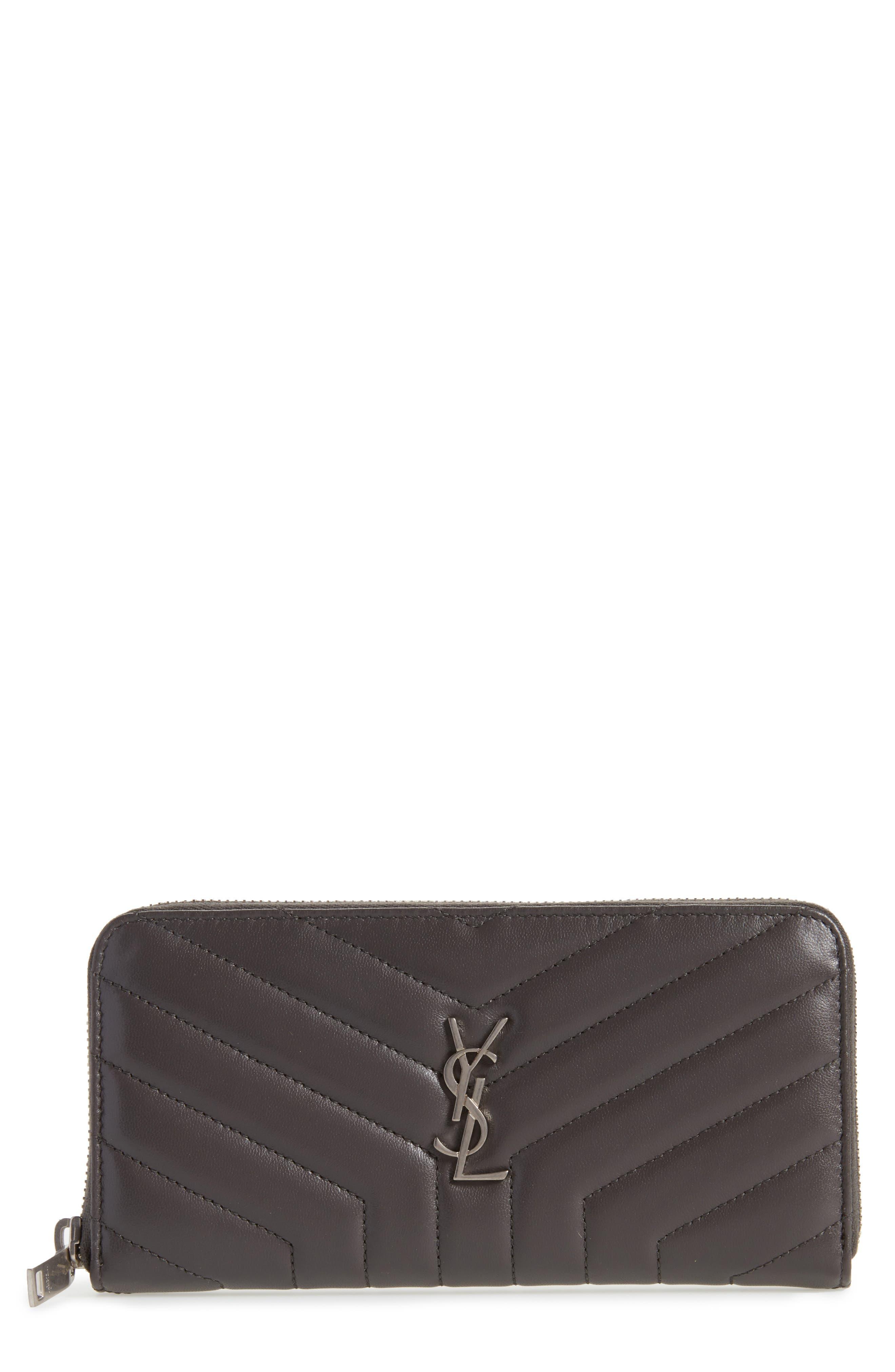 Main Image - Saint Laurent Loulou Matelassé Leather Zip-Around Wallet