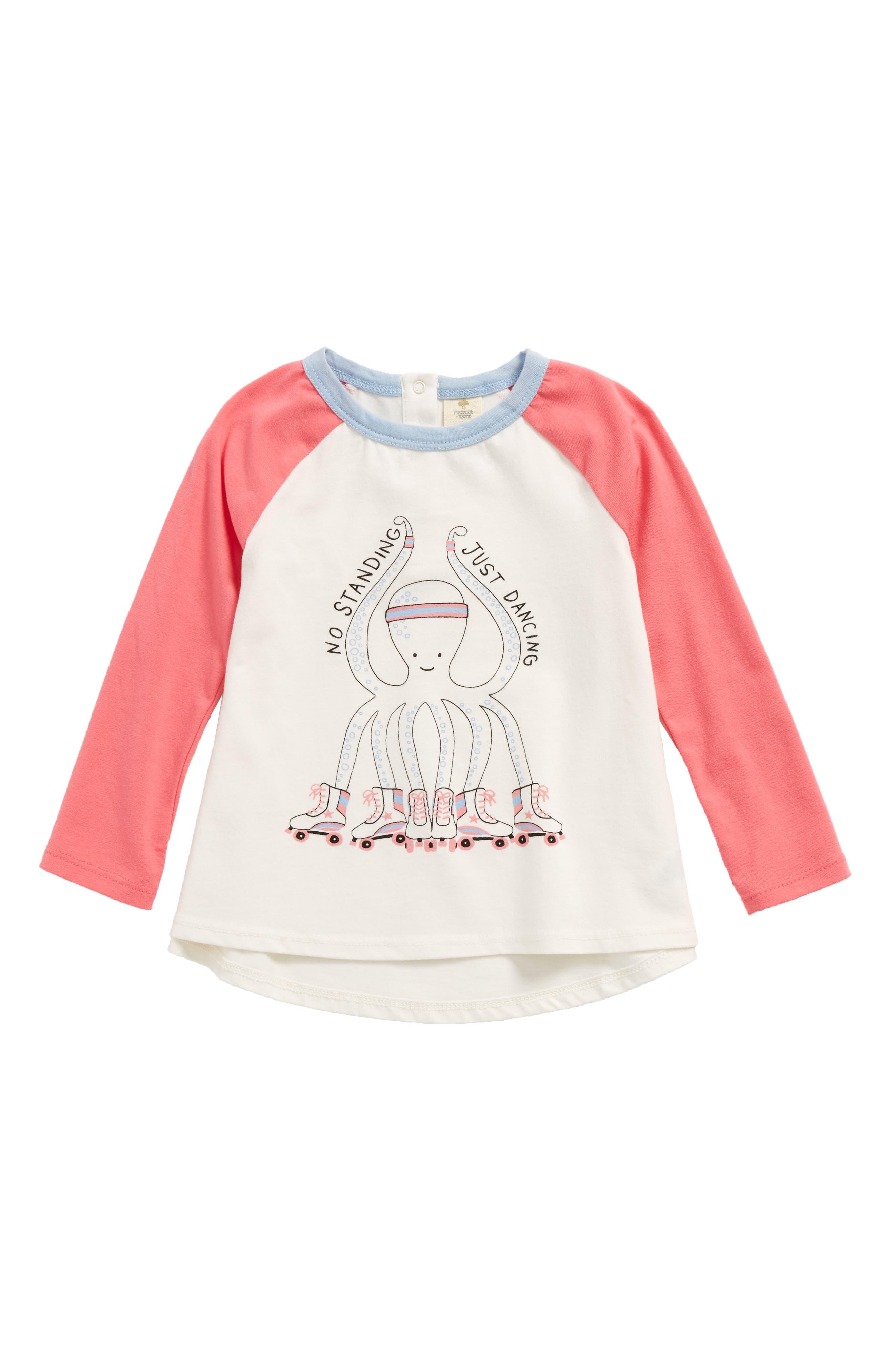 Tucker + Tate Graphic Raglan Tee (Baby Girls)