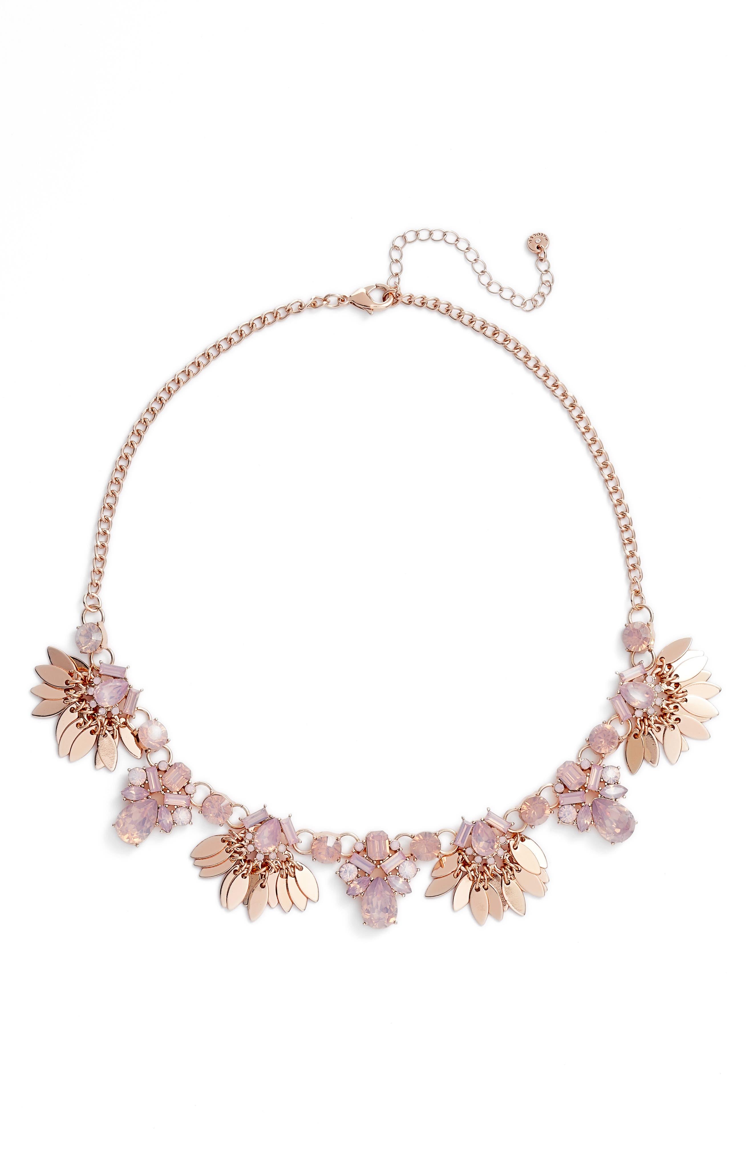 Alternate Image 2  - Halogen® Jewel & Petal Statement Necklace