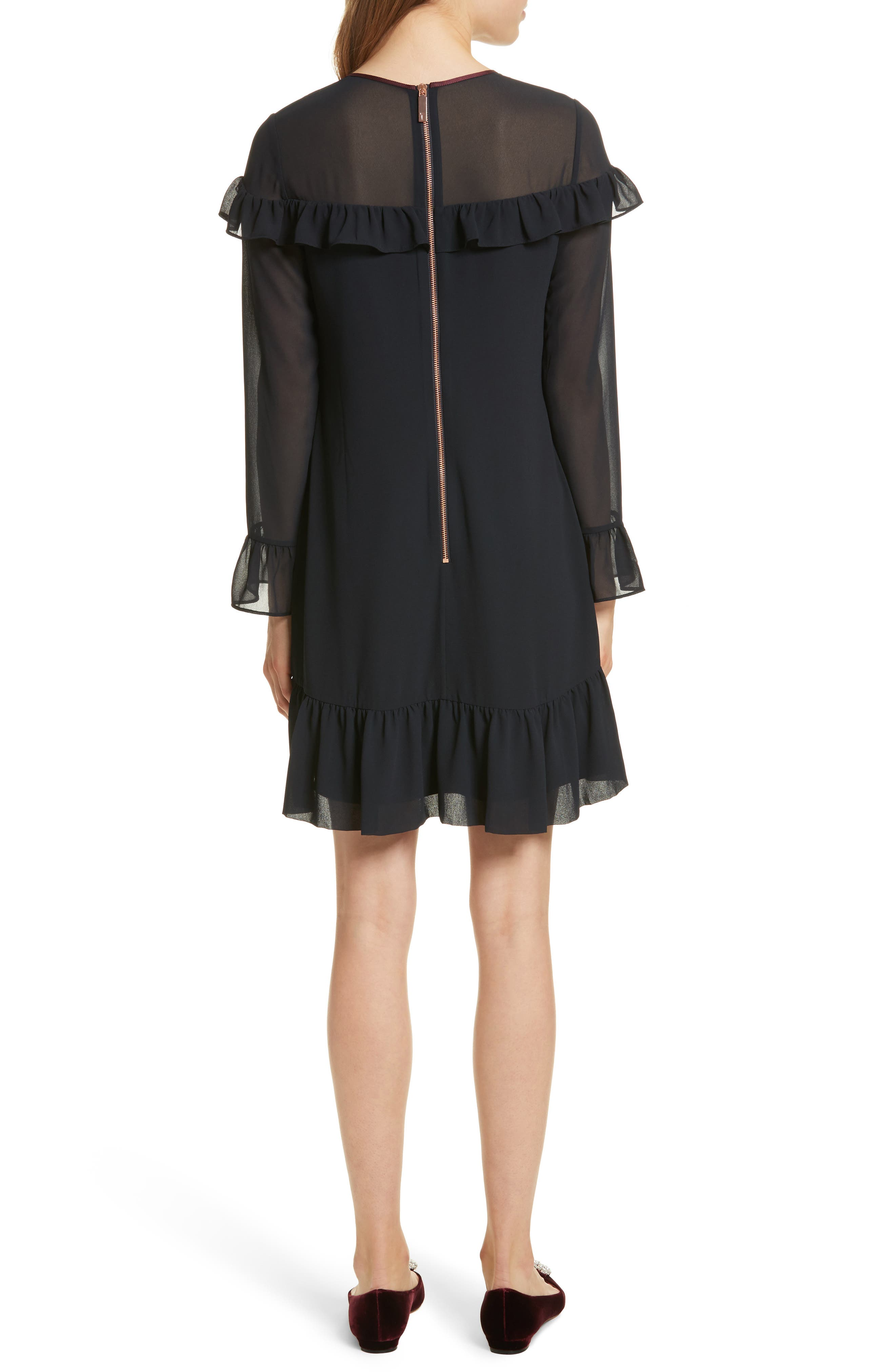 Alternate Image 2  - Ted Baker London Ruffle Trim Shift Dress
