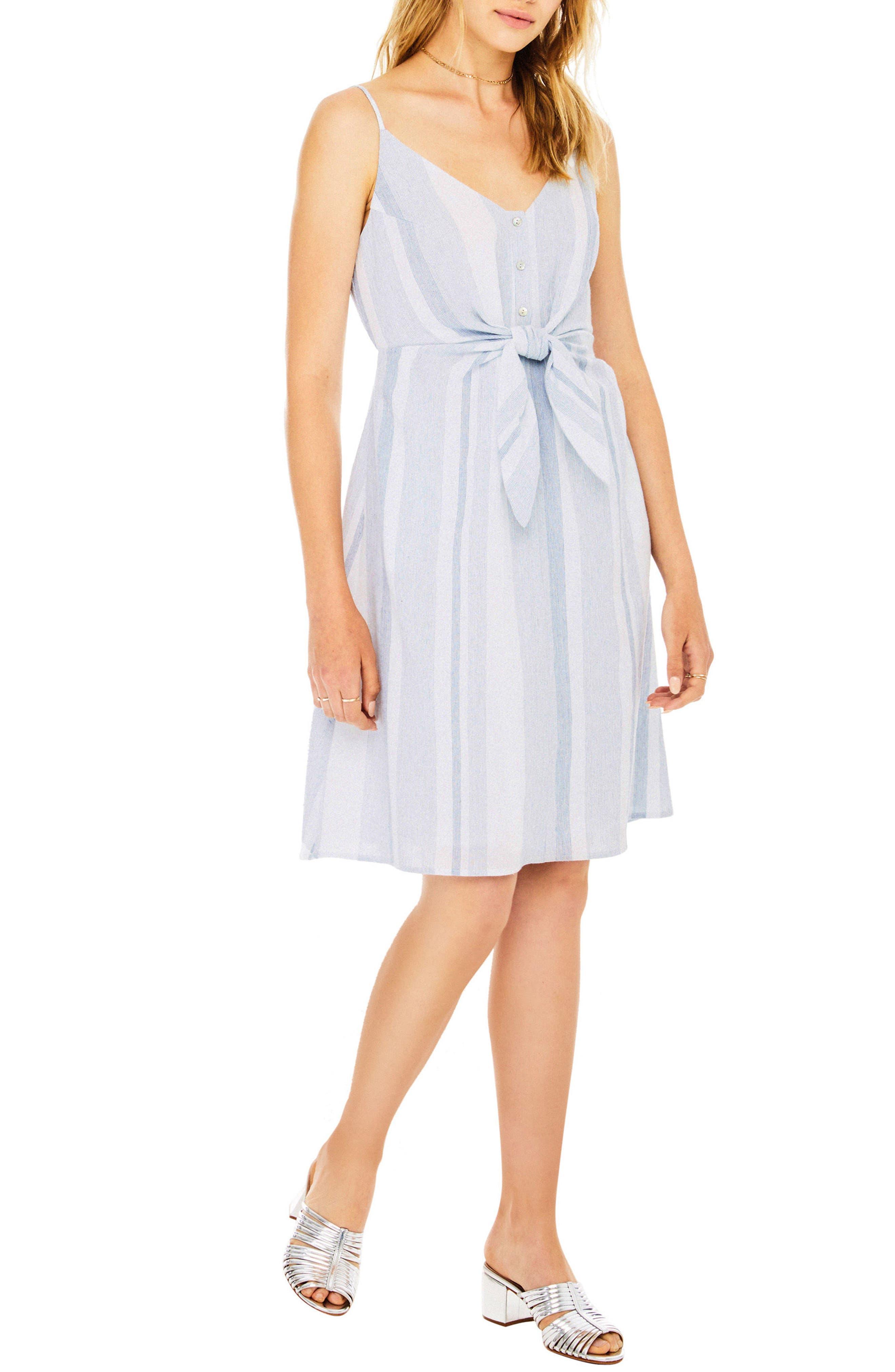 Parker Dress,                             Alternate thumbnail 3, color,                             Sky Blue Stripe