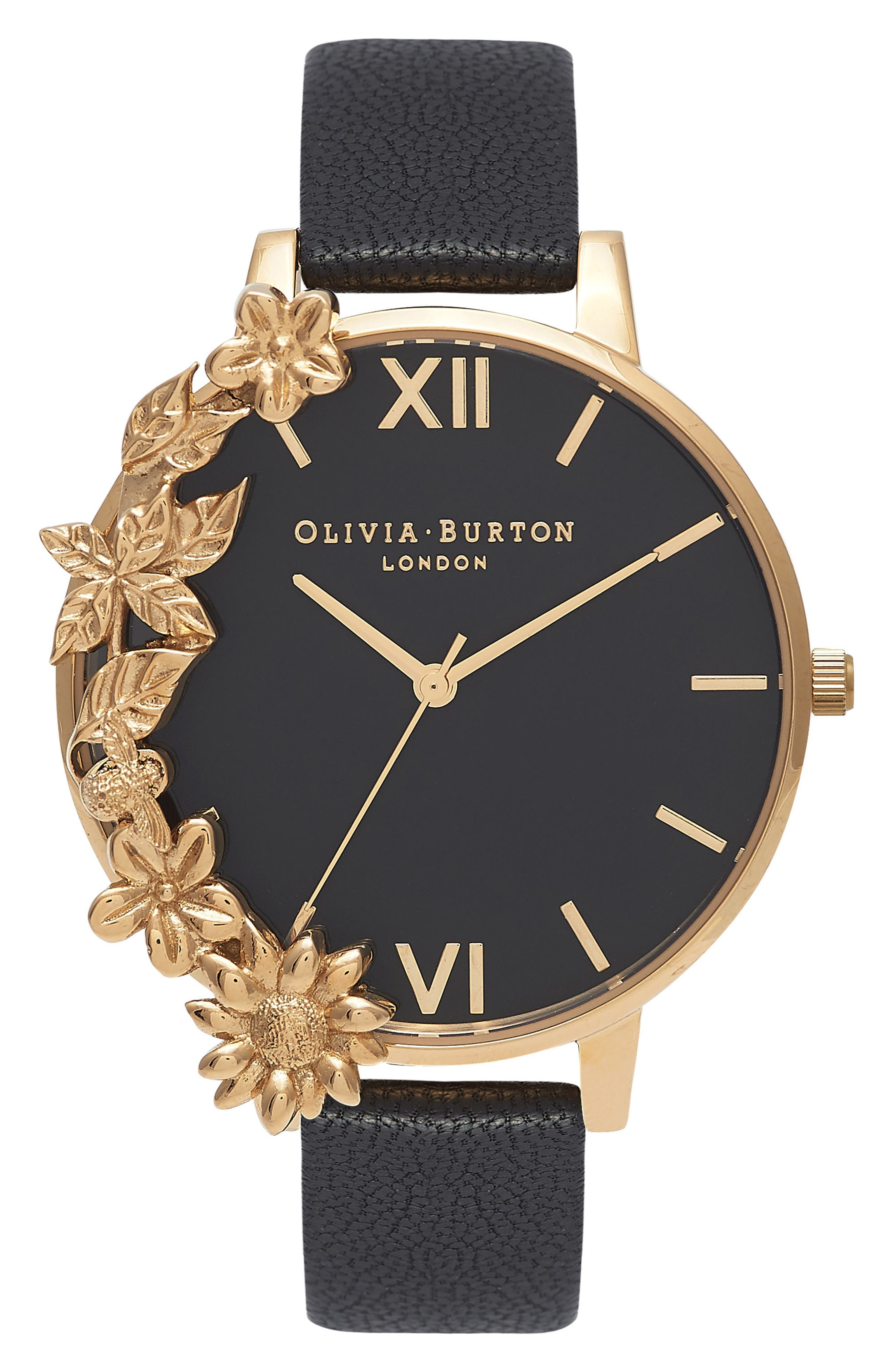 Alternate Image 1 Selected - Olivia Burton Case Cuff Leather Strap Watch, 38mm