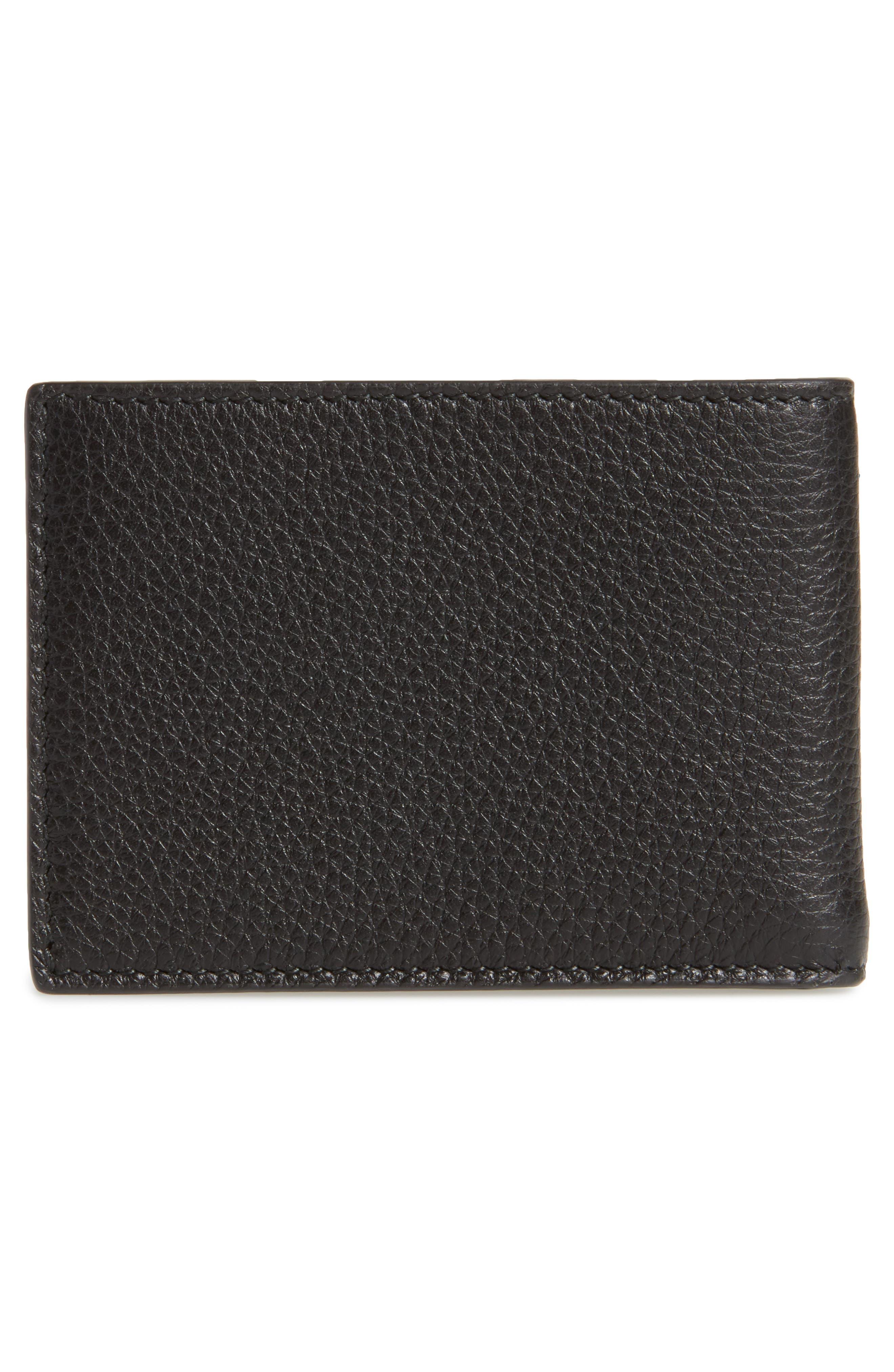 Bifold Wallet,                             Alternate thumbnail 3, color,                             Black