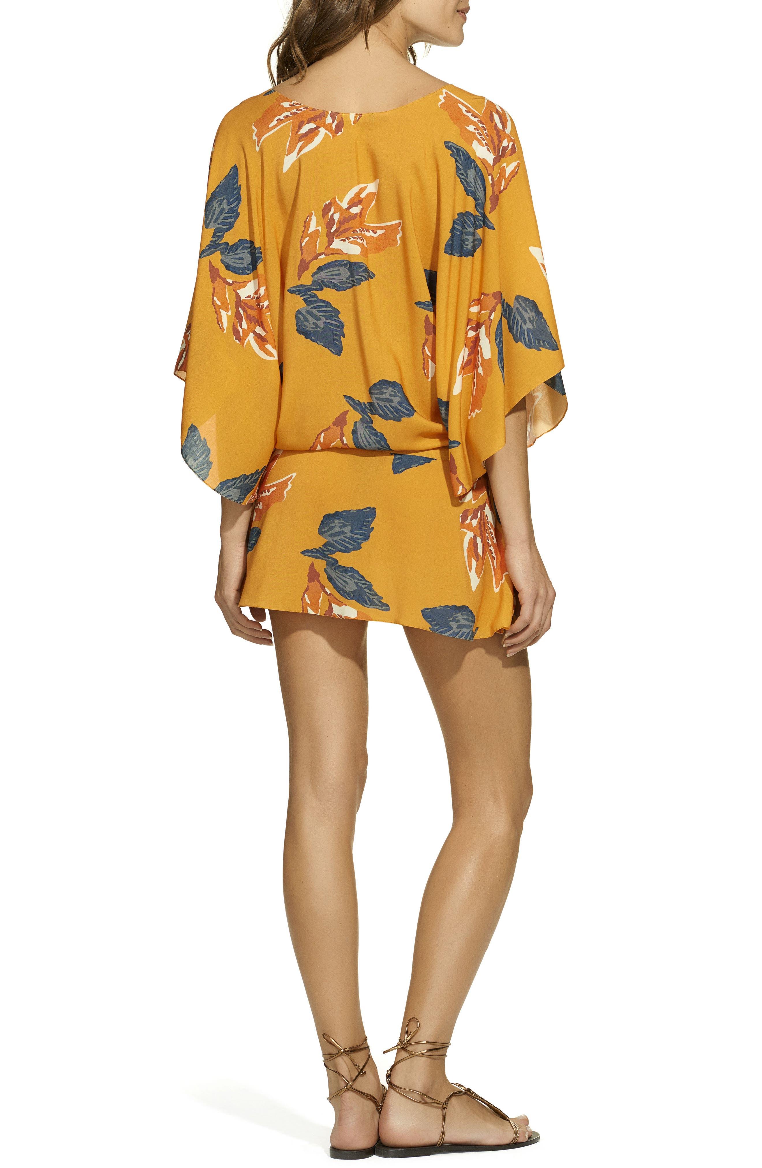 Tulum Vintage Cover-Up Tunic,                             Alternate thumbnail 2, color,                             Orange Multi