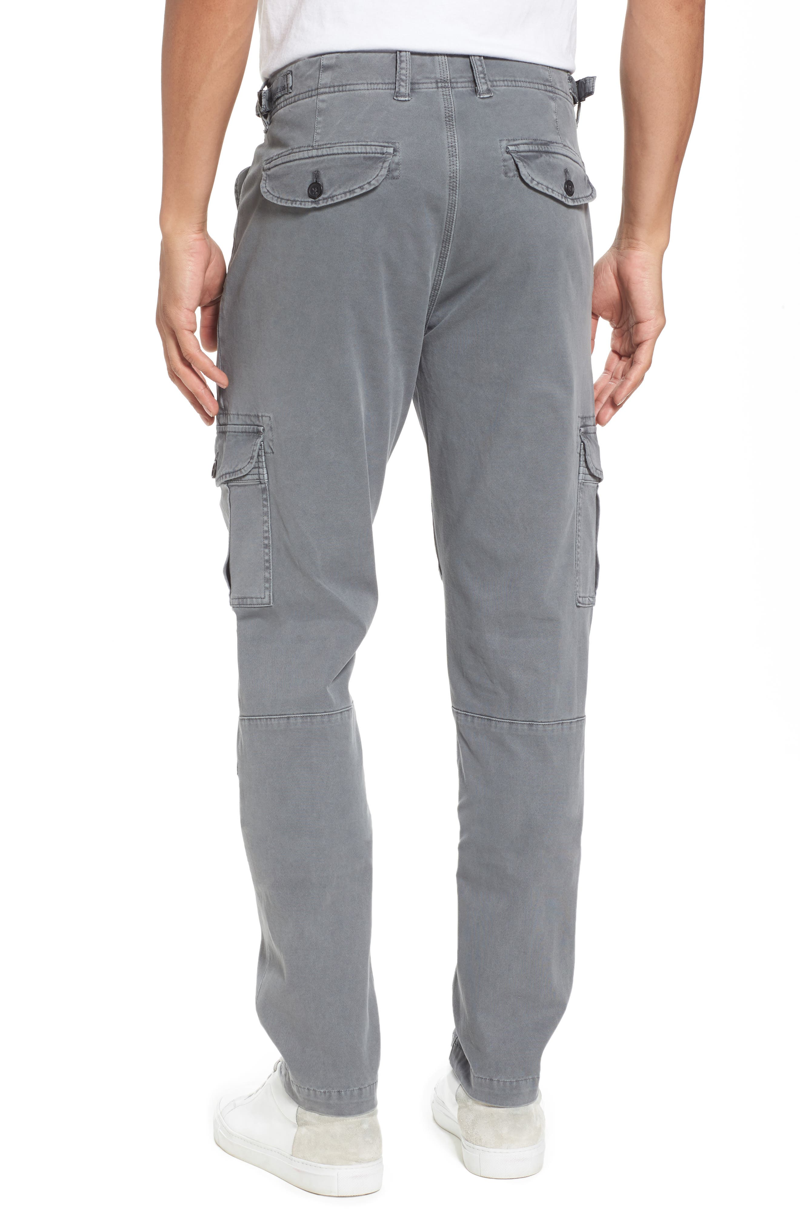Stretch Twill Cargo Pants,                             Alternate thumbnail 2, color,                             Gray