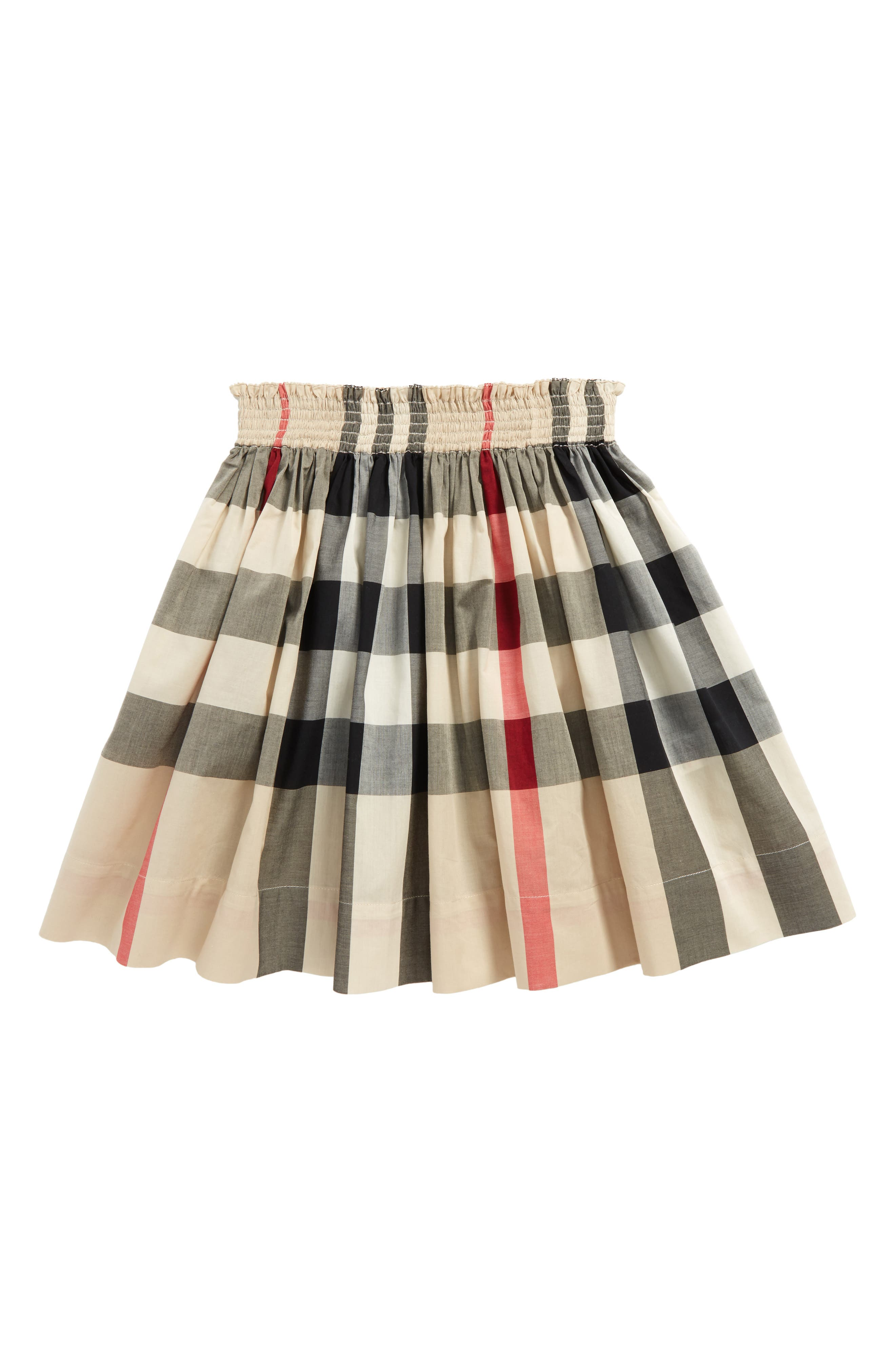 Main Image - Burberry Hala Check Skirt (Little Girls & Big Girls)