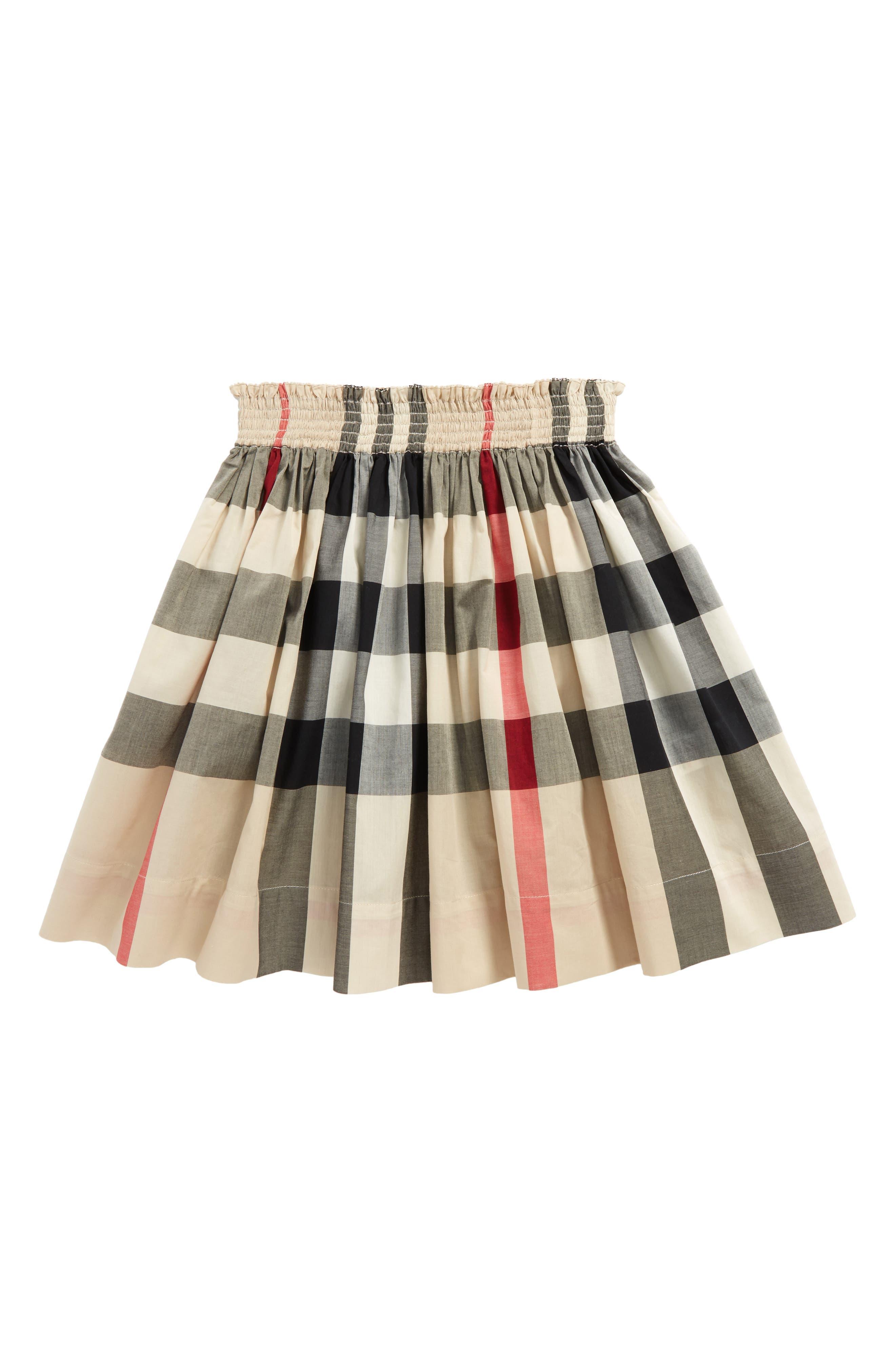 Hala Check Skirt,                         Main,                         color, New Classic Check