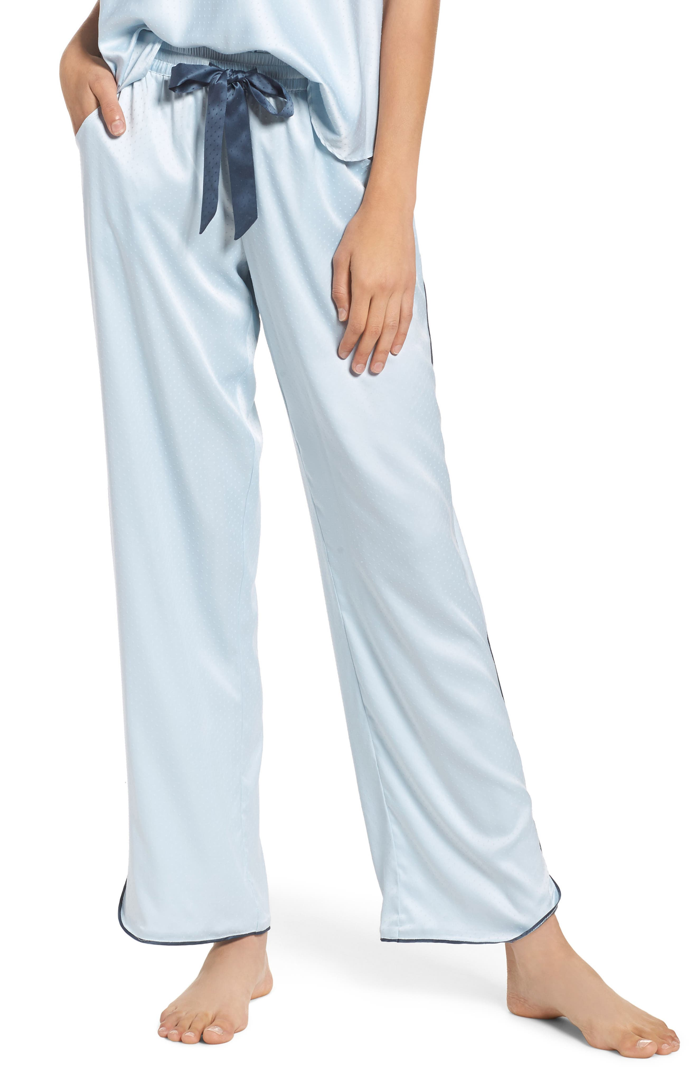 Chelsea27 Late Nights Satin Lounge Pants,                         Main,                         color, Blue Drift