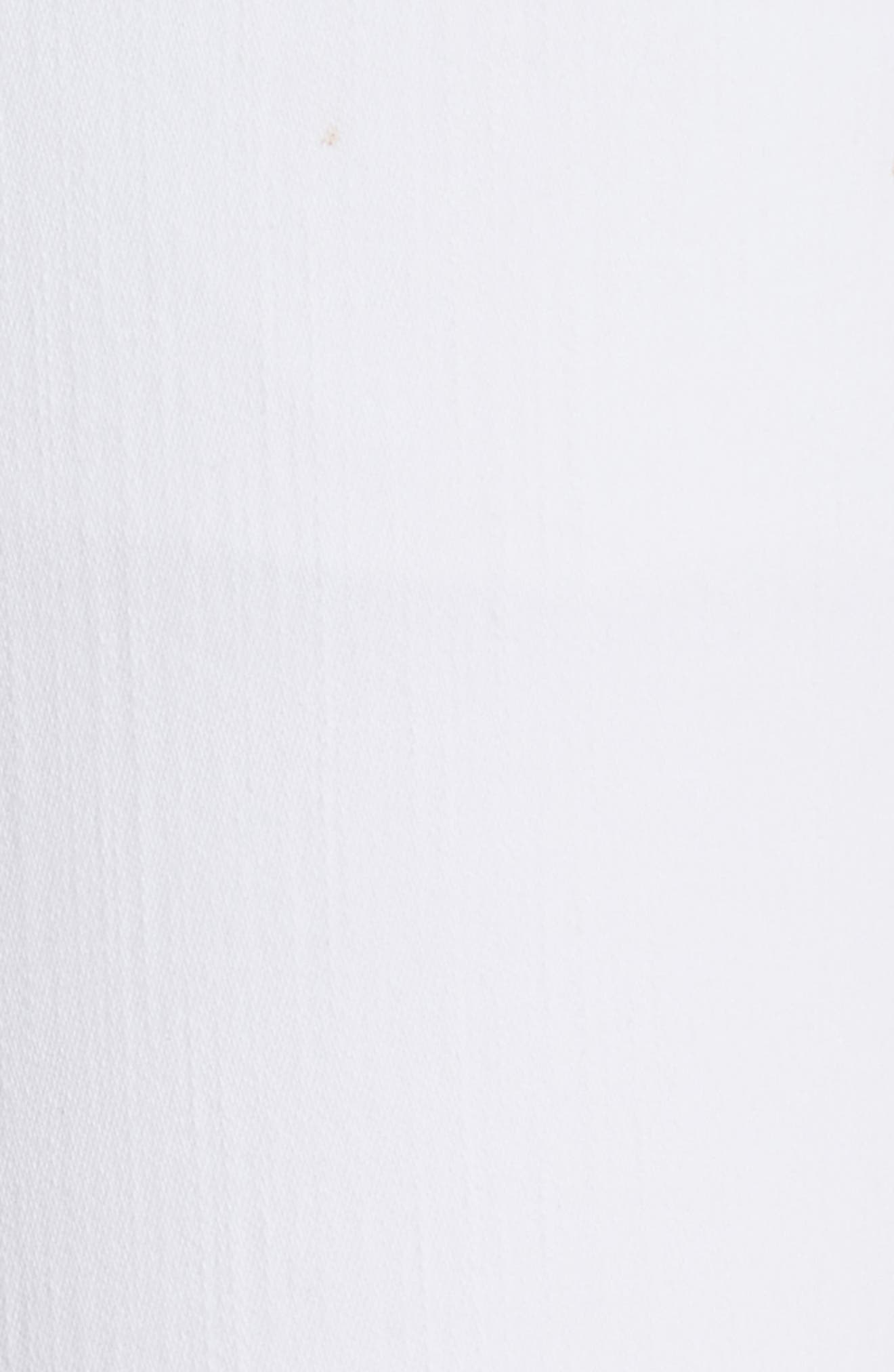 W2 Crop Skinny Jeans,                             Alternate thumbnail 5, color,                             White Tear