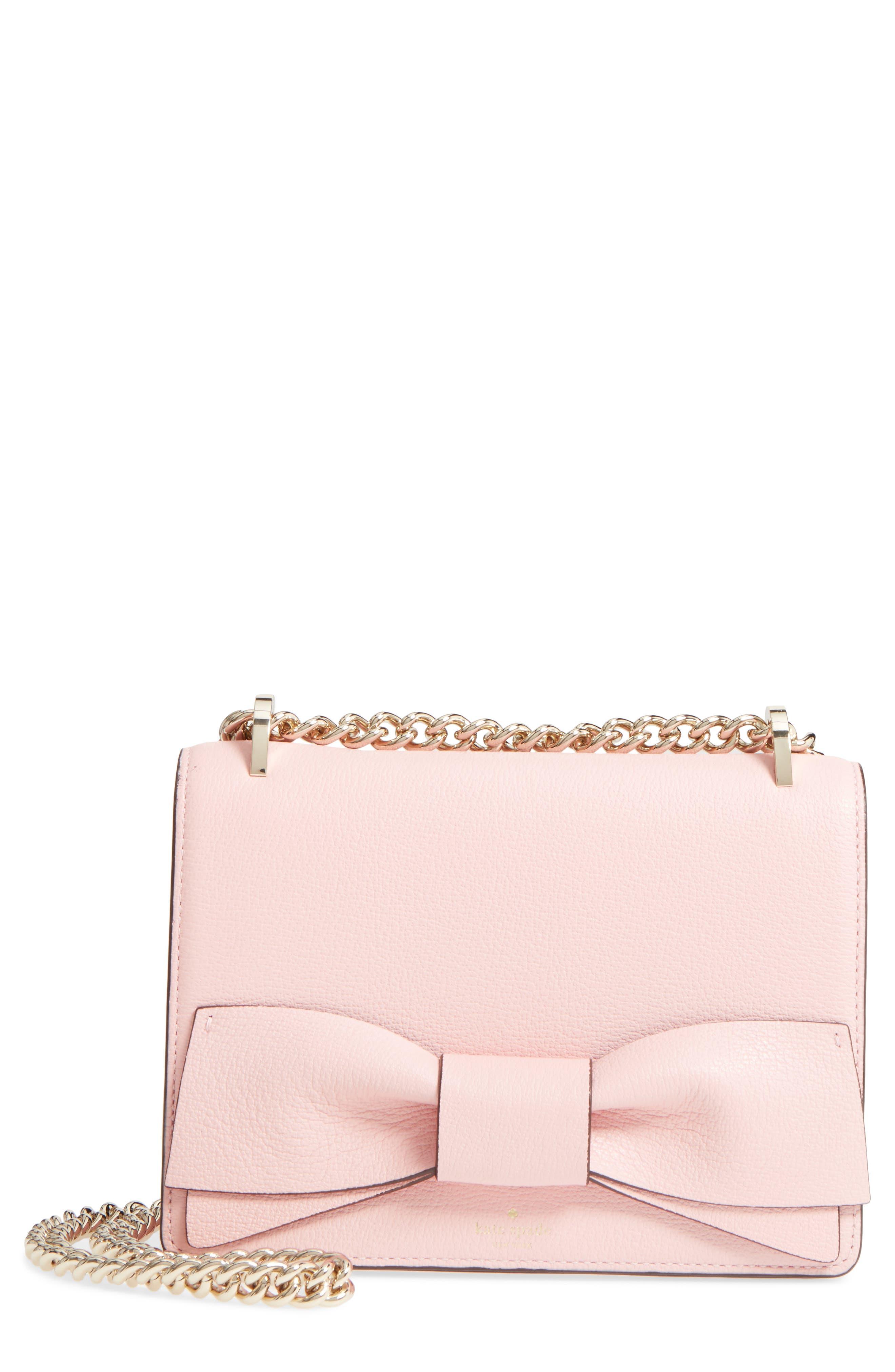 olive drive - marci leather shoulder bag,                             Main thumbnail 1, color,                             Rose Jade