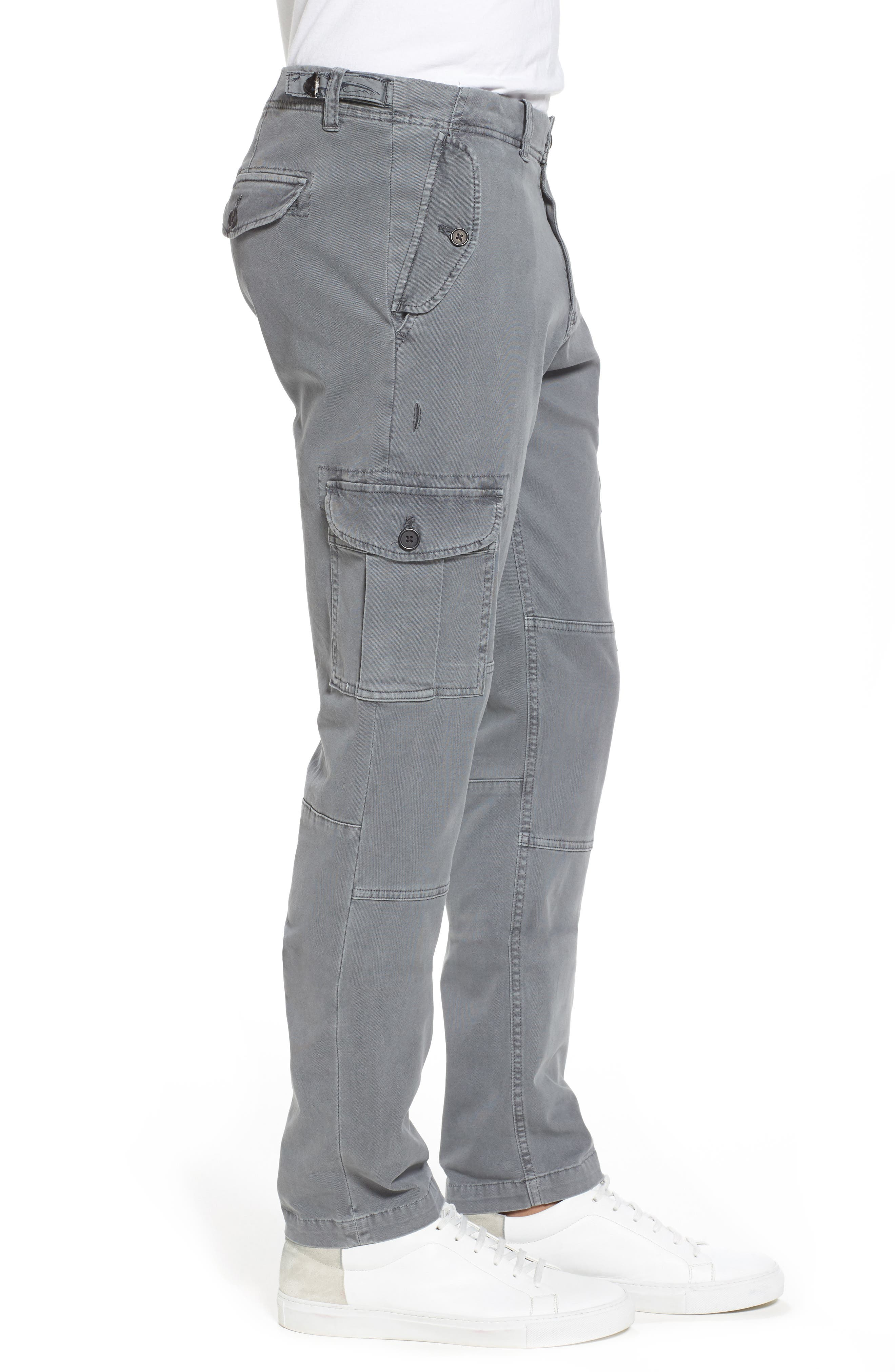 Stretch Twill Cargo Pants,                             Alternate thumbnail 3, color,                             Gray