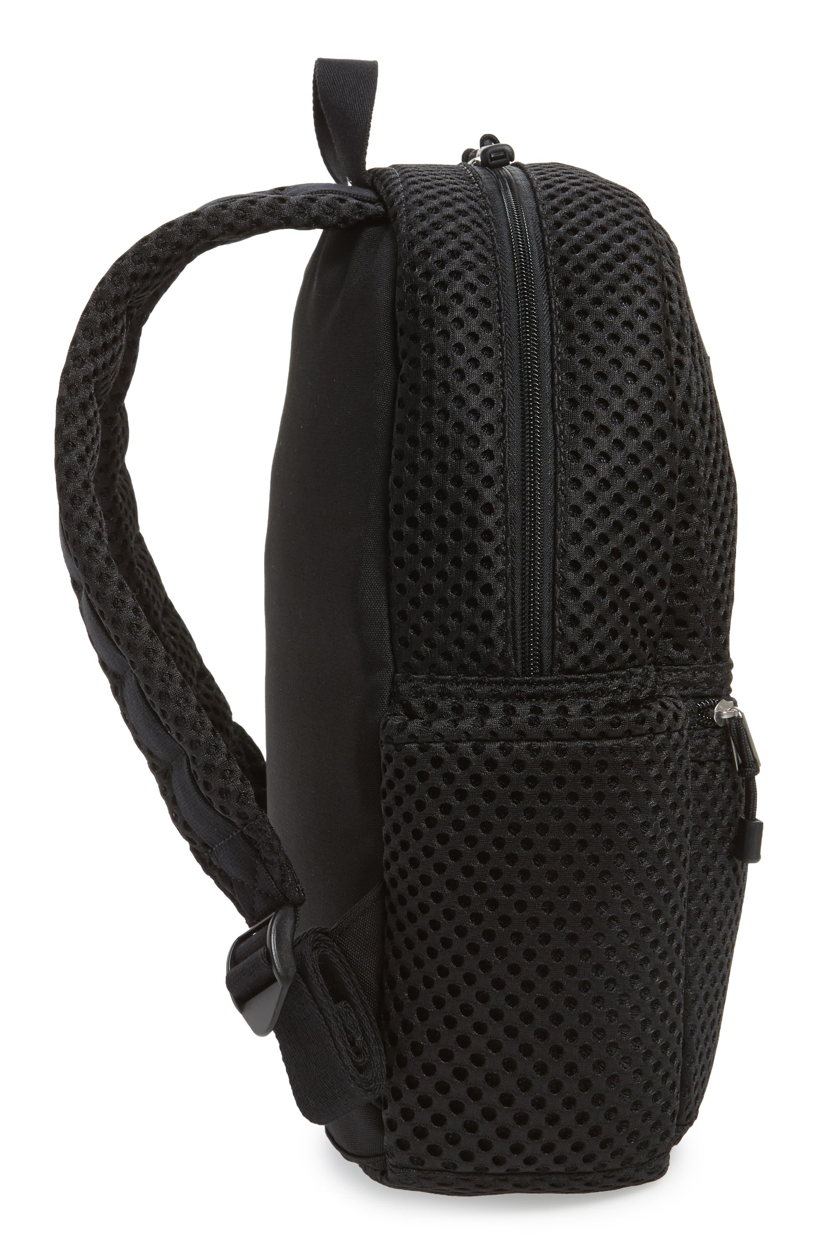Lacrosse Mesh Kane Backpack,                             Alternate thumbnail 5, color,                             Black
