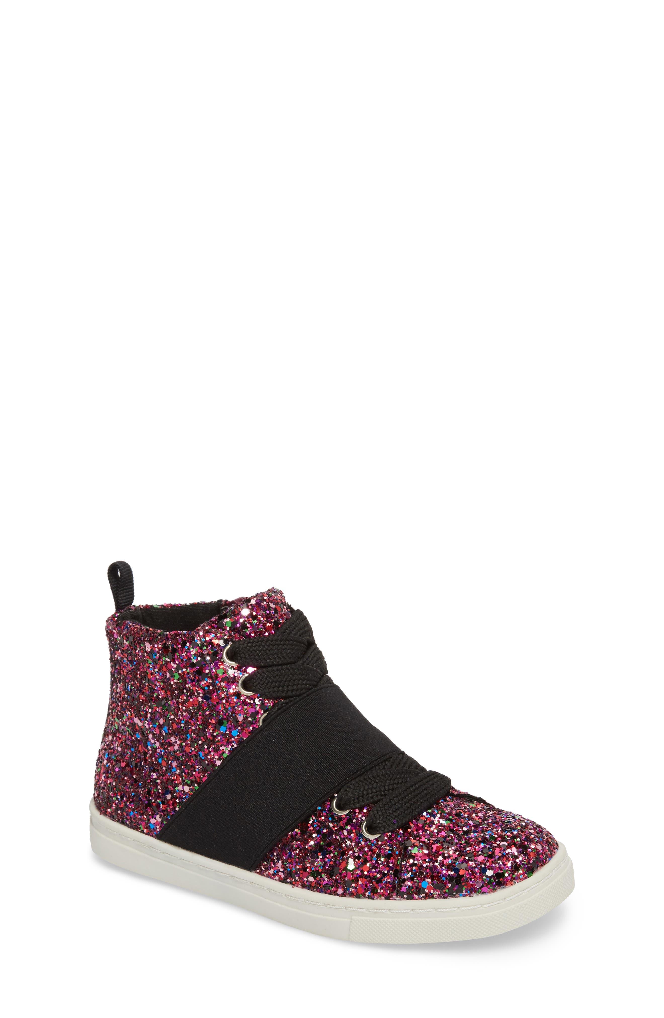 Zoa High Top Sneaker,                         Main,                         color, Fuchsia Glitter