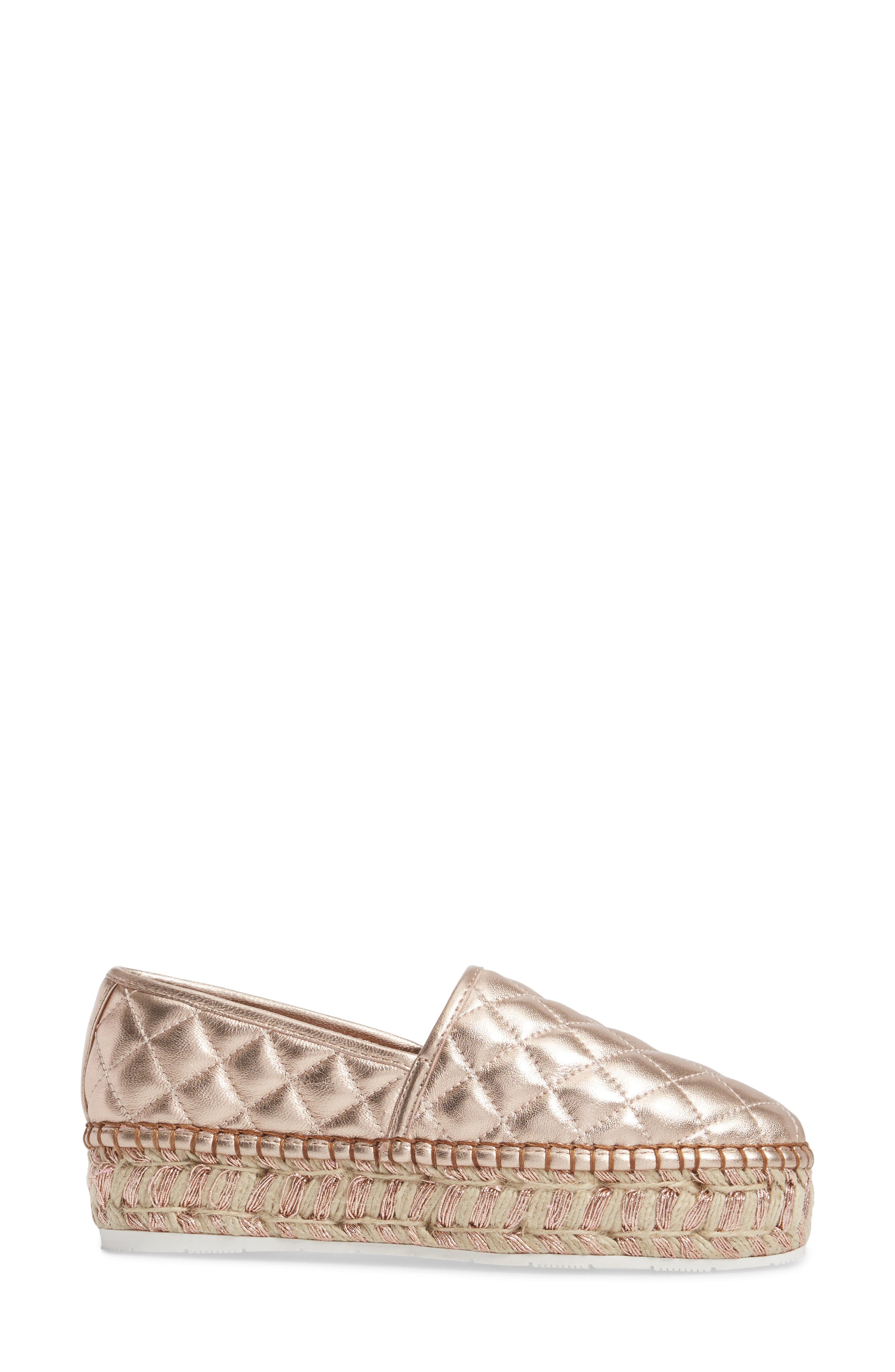 Alternate Image 3  - JSlides Renata Quilted Slip-On Platform Flat (Women)