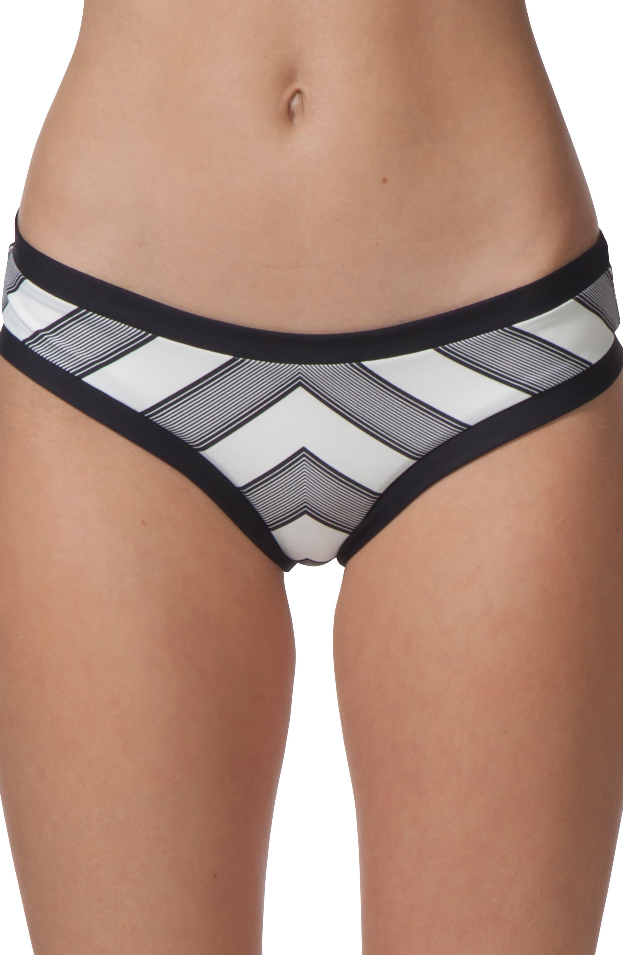 Mirage Line Up Hipster Bikini Bottoms,                             Main thumbnail 1, color,                             Black