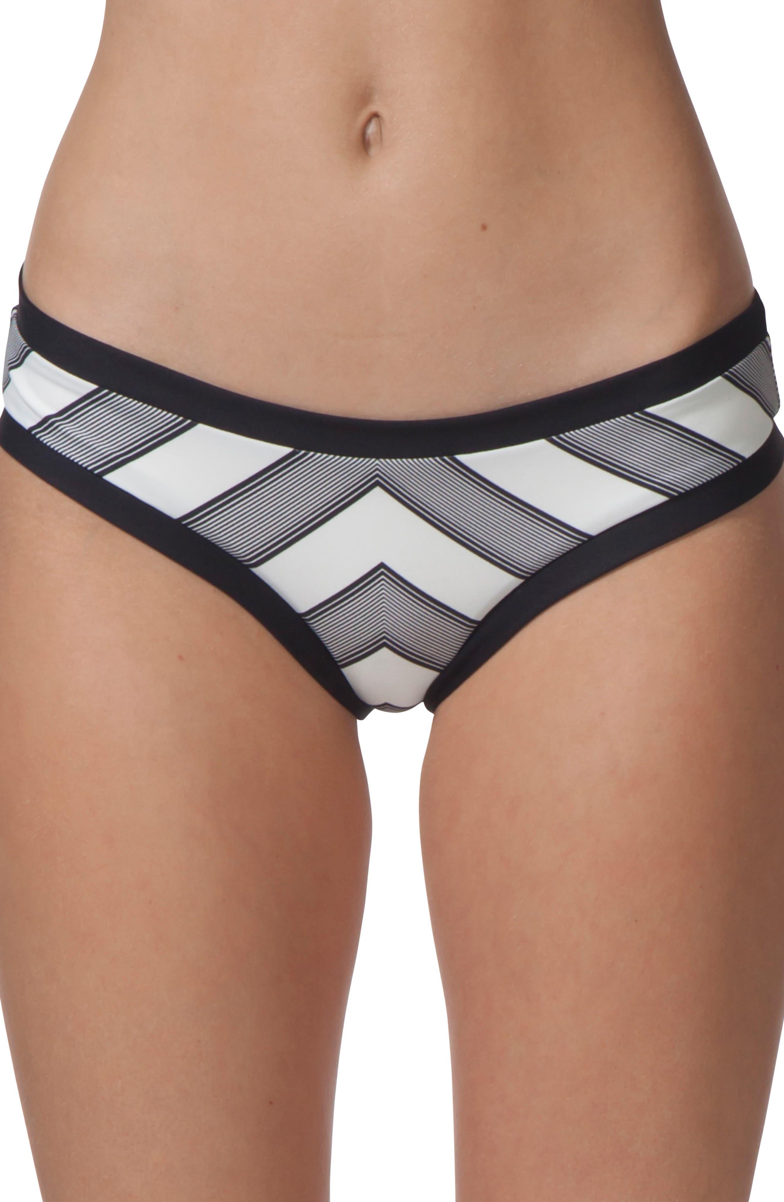 Mirage Line Up Hipster Bikini Bottoms,                         Main,                         color, Black