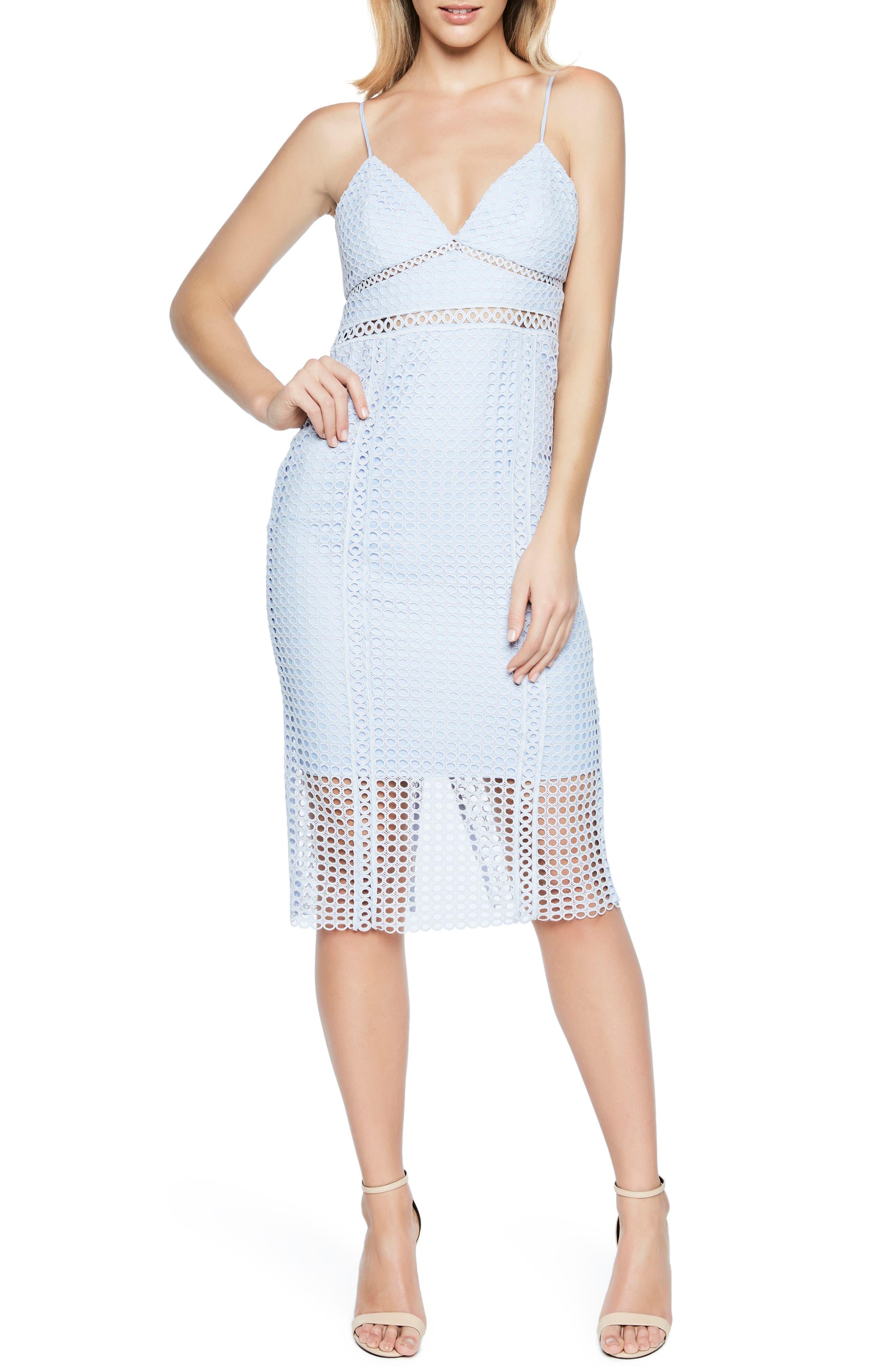 Circle Lace Dress,                             Main thumbnail 1, color,                             Steel Blue