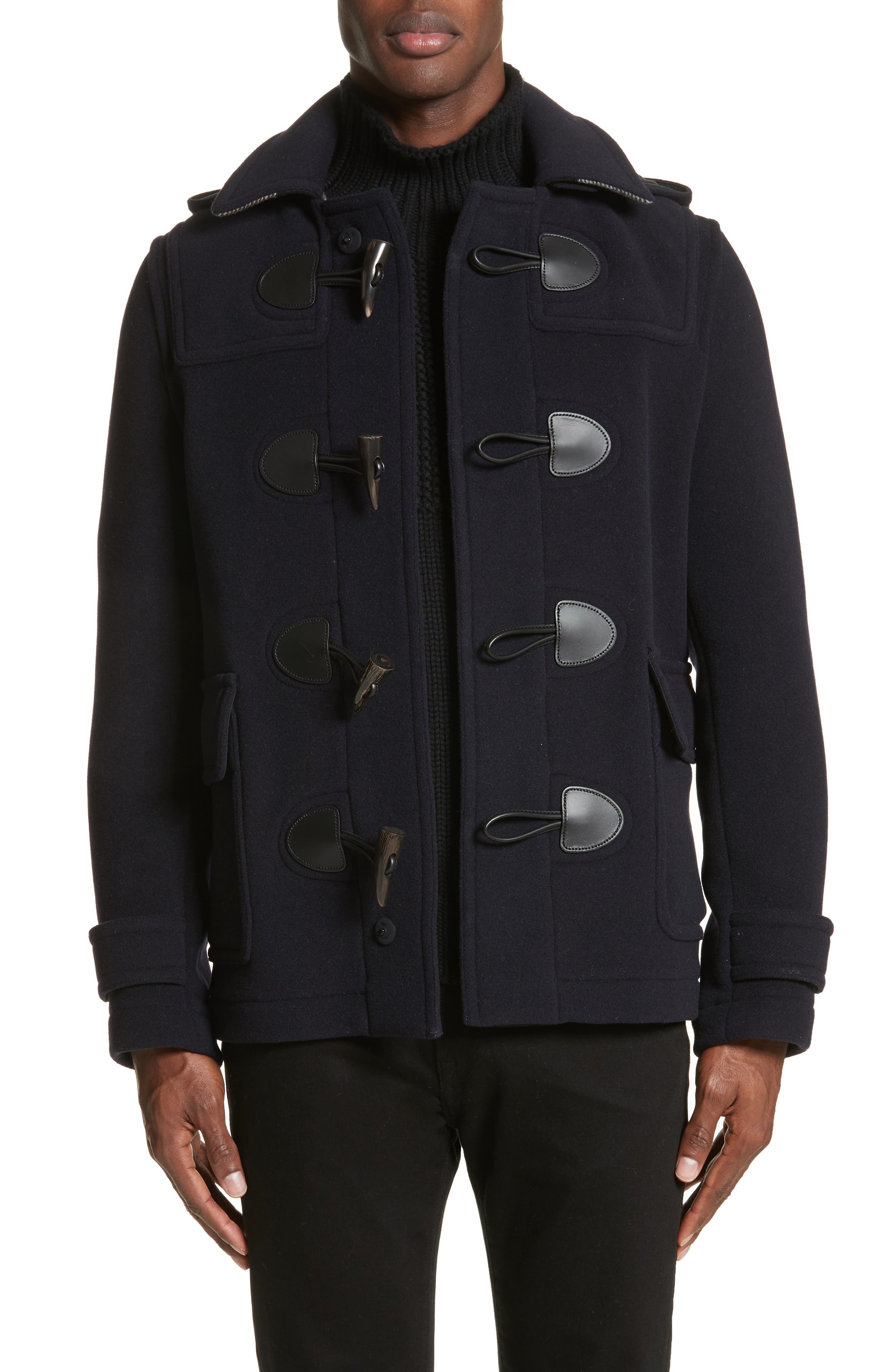 Plymouth Wool Blend Duffle Jacket,                         Main,                         color, Navy