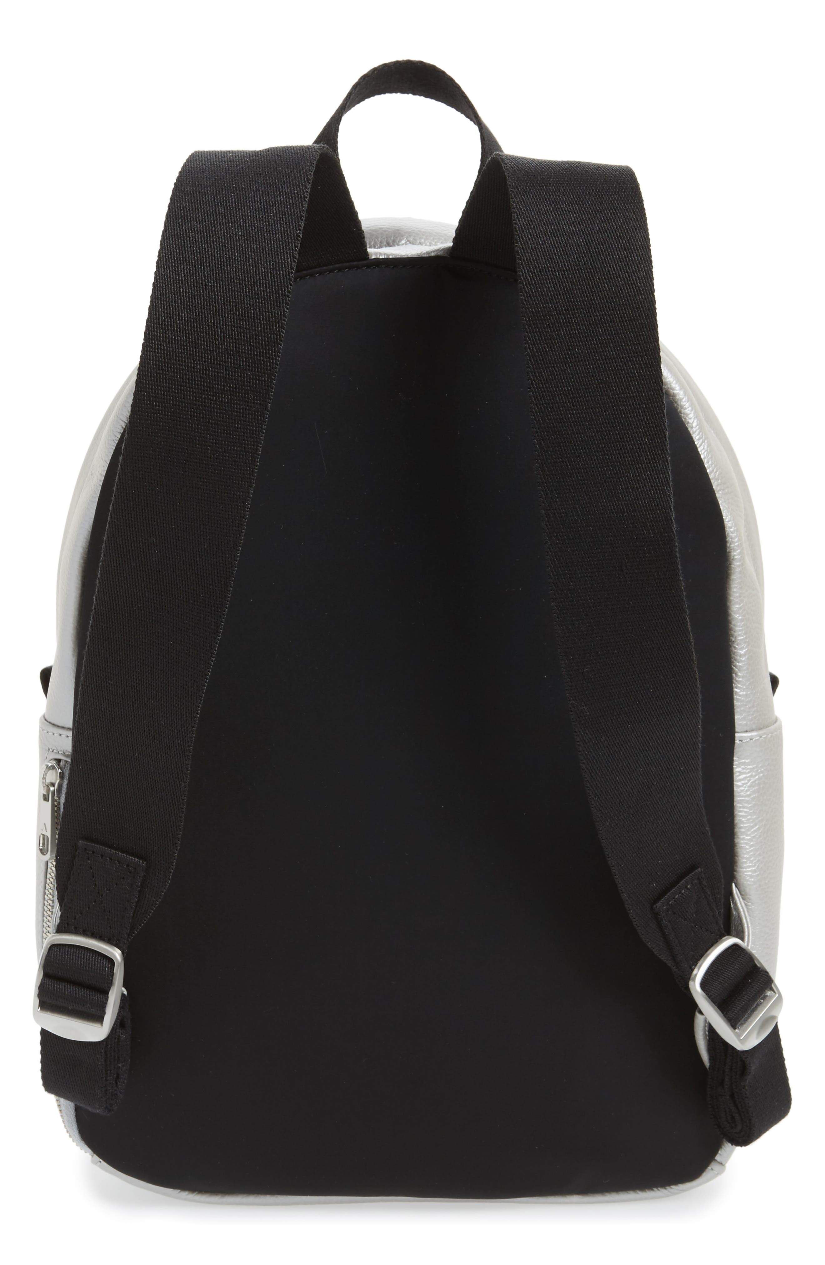 Greenwood Mini Lorimer Leather Backpack,                             Alternate thumbnail 3, color,                             Silver
