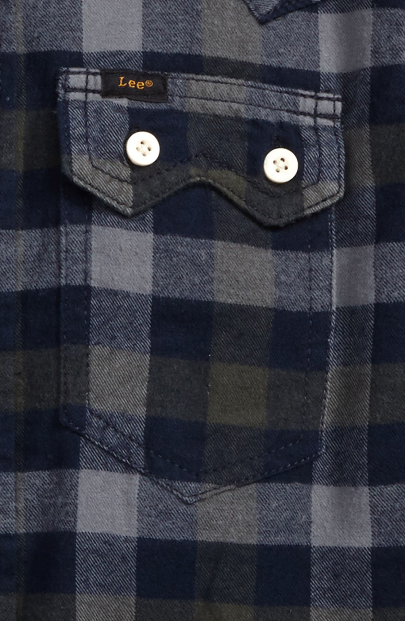 Alternate Image 2  - Lee Plaid Woven Shirt (Big Boys)