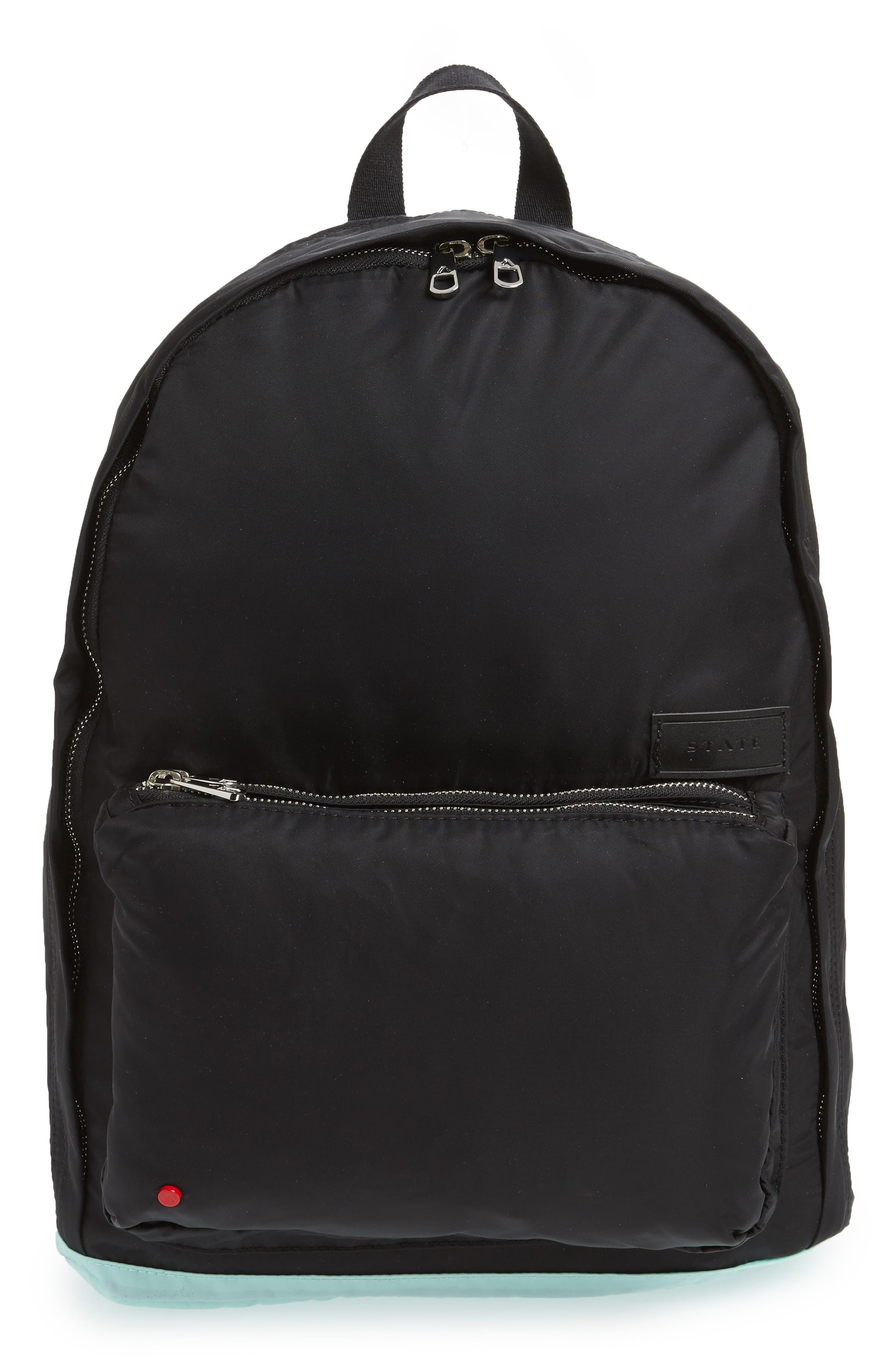 The Heights Adams Backpack,                             Main thumbnail 1, color,                             Black/ Mint