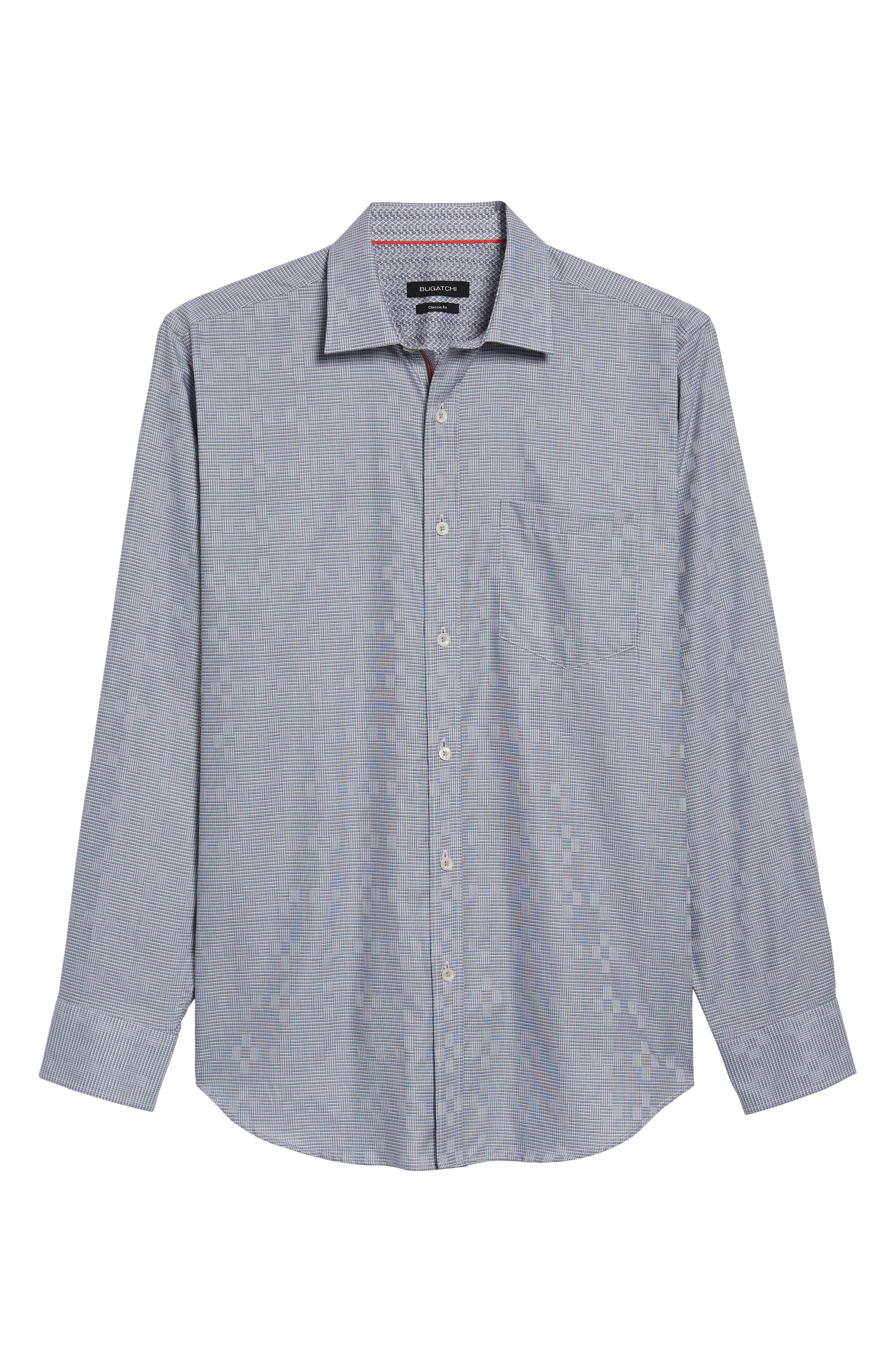 Alternate Image 6  - Bugatchi Classic Fit Print Sport Shirt