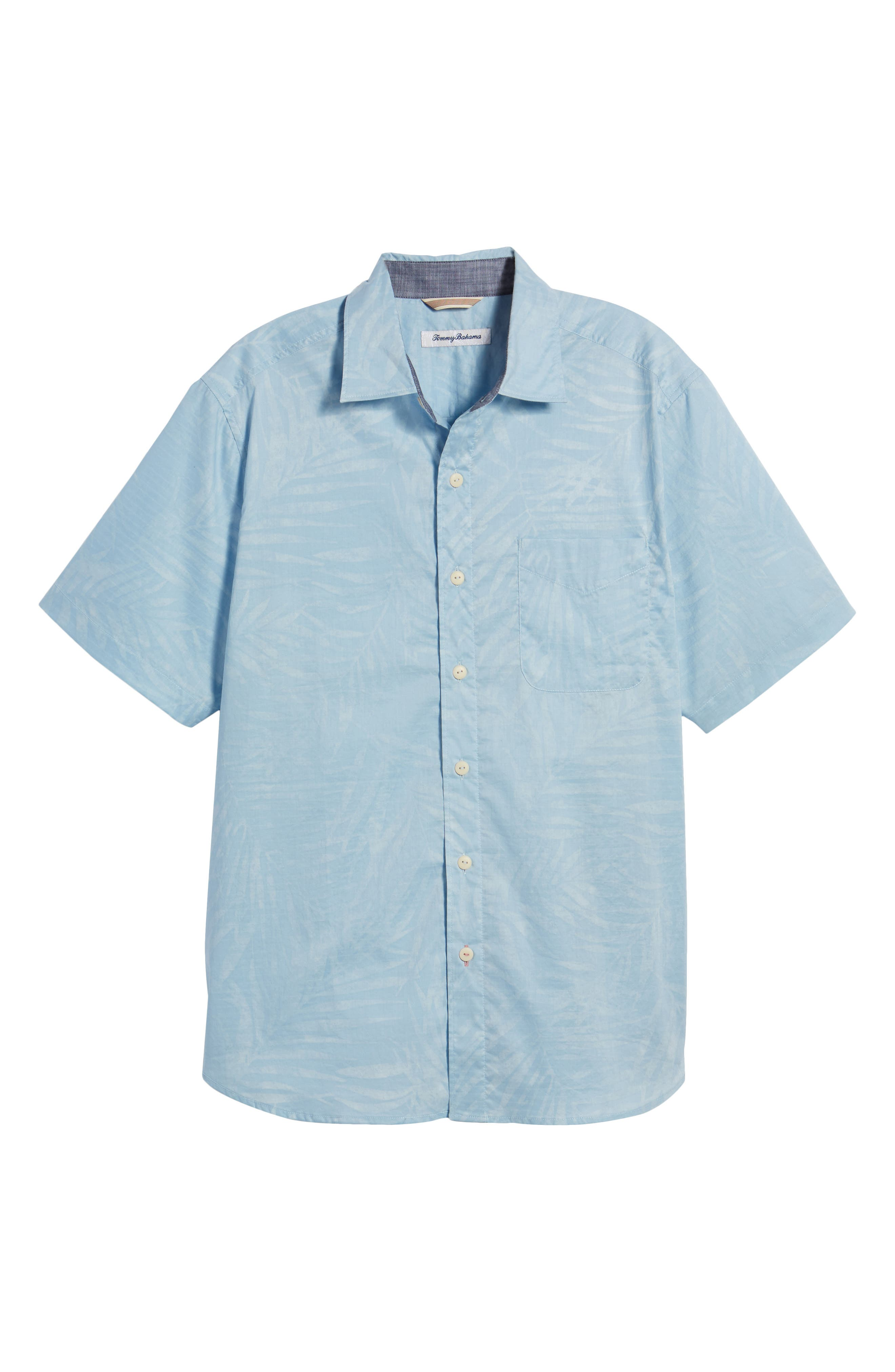 Vero Fronds Sport Shirt,                             Alternate thumbnail 6, color,                             Opal