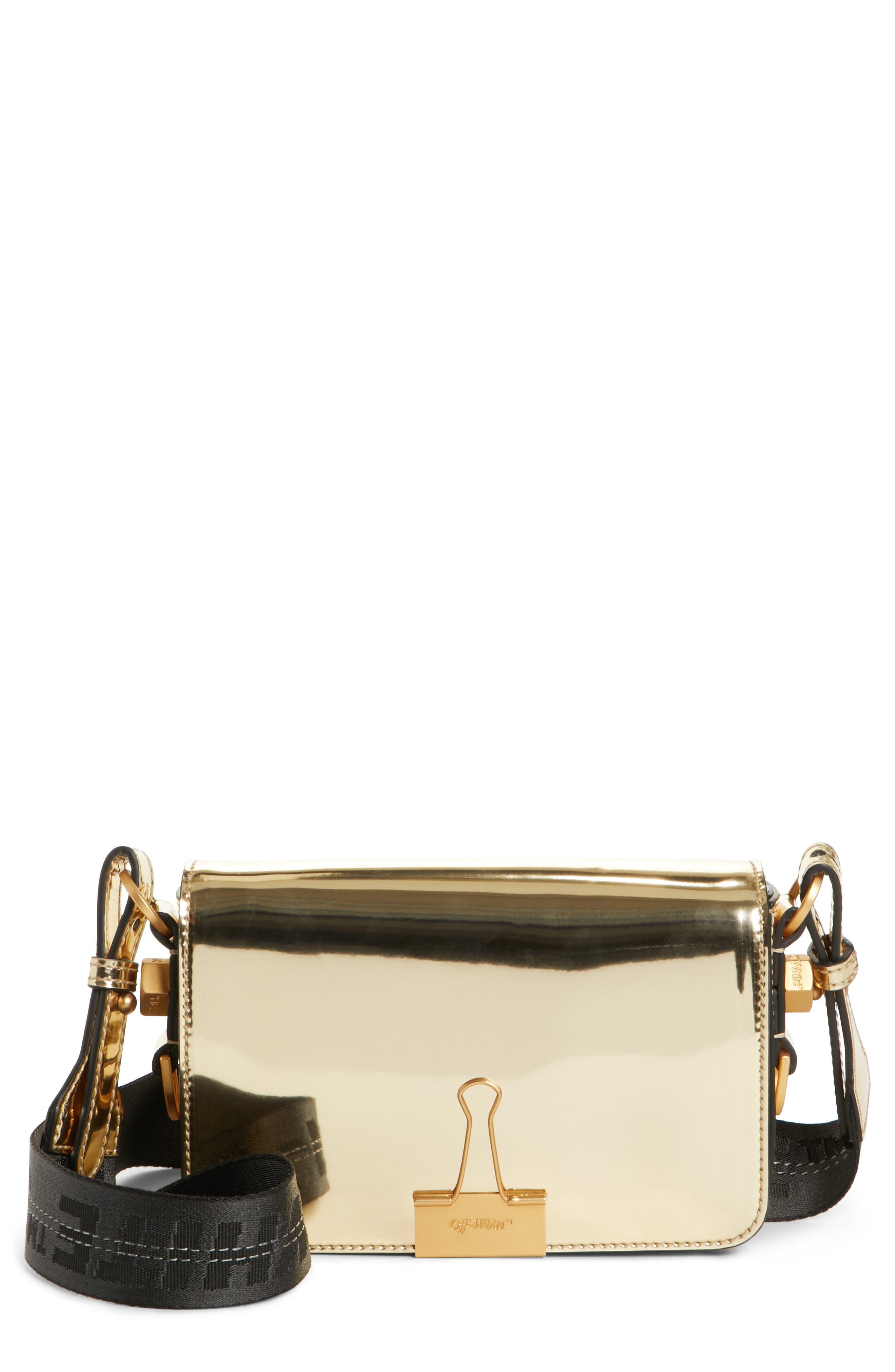 Off-White Metallic Mini Flap Bag