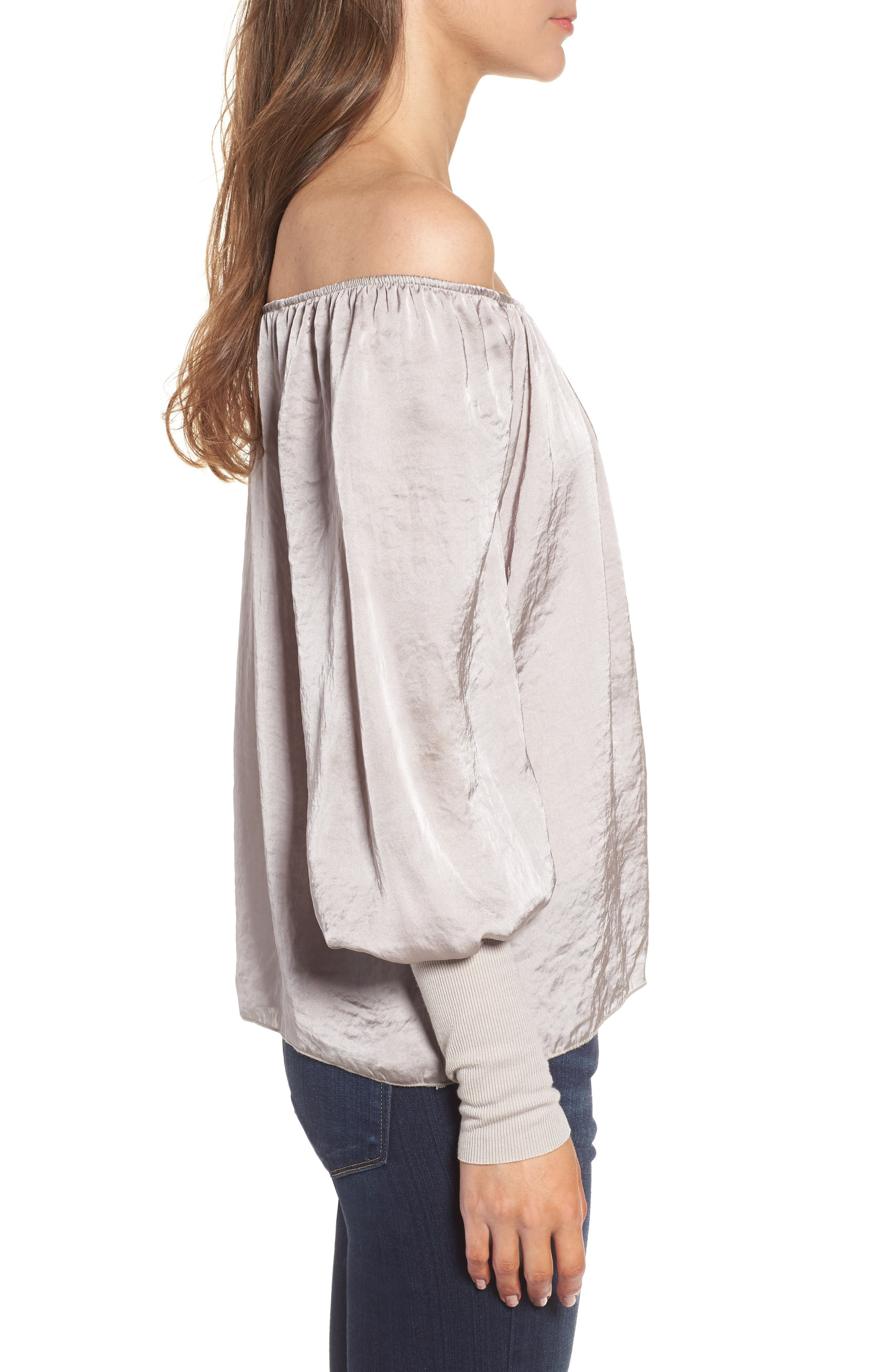 Working Title Satin Top,                             Alternate thumbnail 3, color,                             Taupe