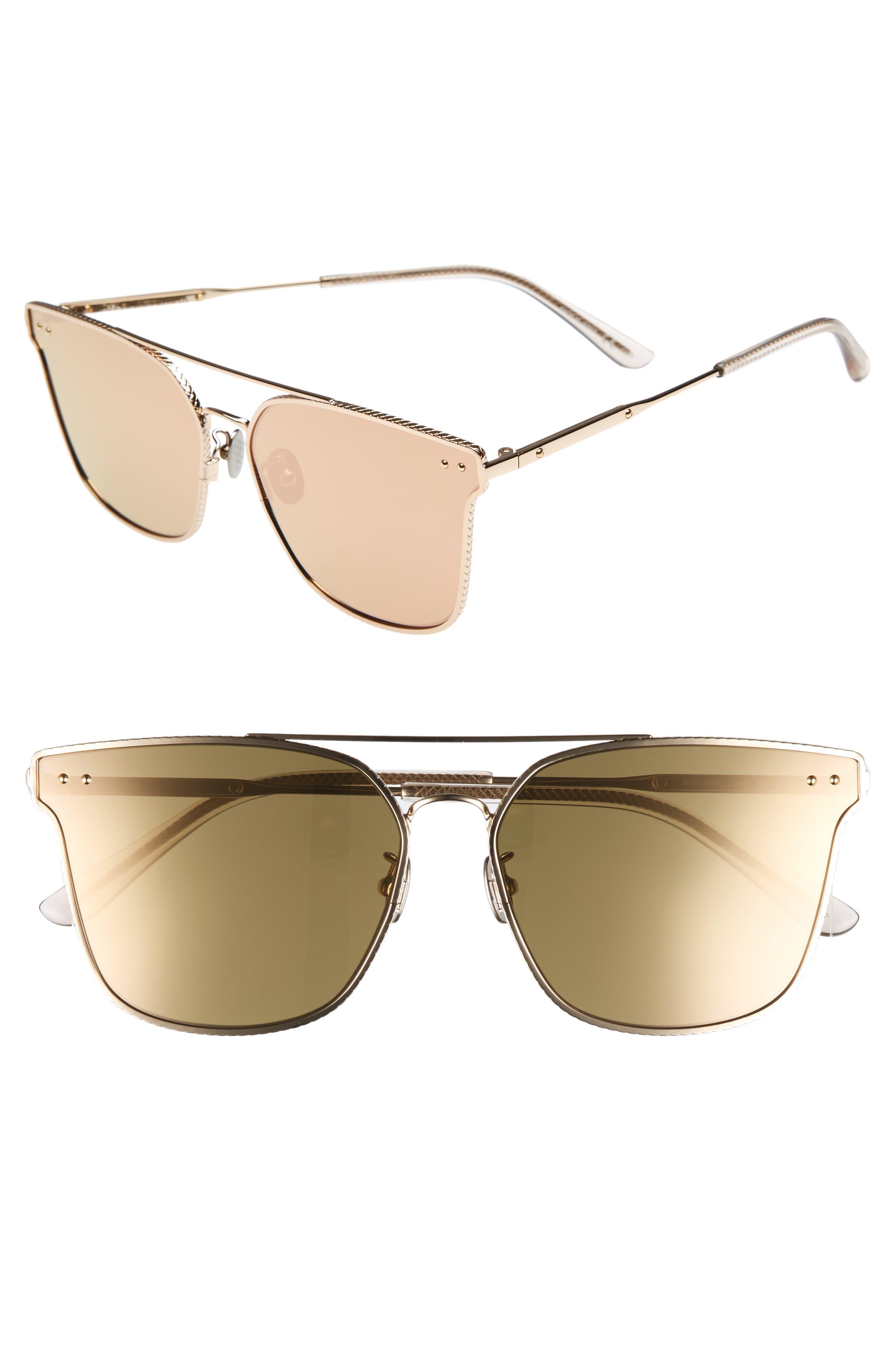 64mm Sunglasses,                             Main thumbnail 1, color,                             Gold