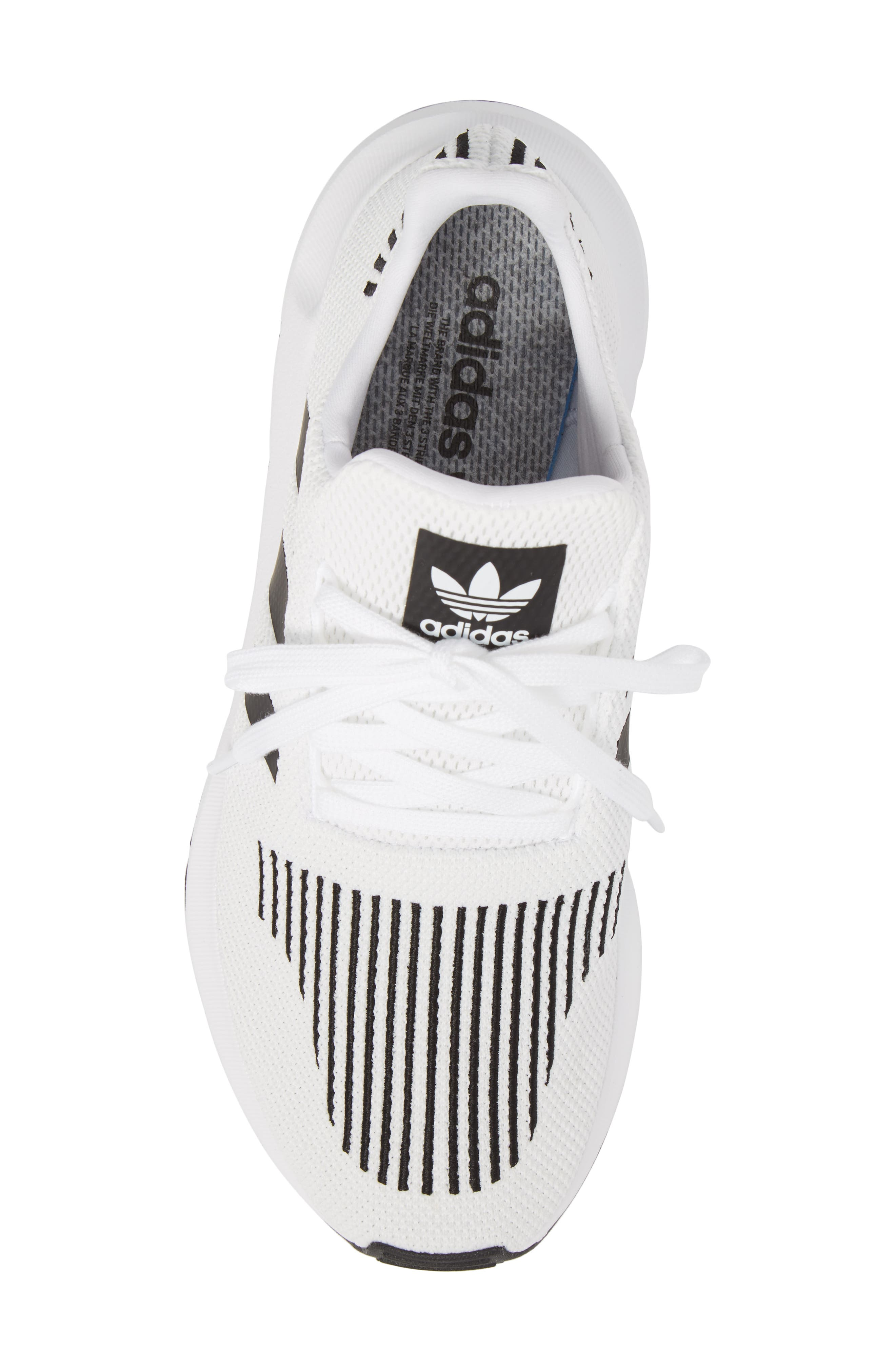 Swift Run Sneaker,                             Alternate thumbnail 5, color,                             White/ Core Black/ Grey