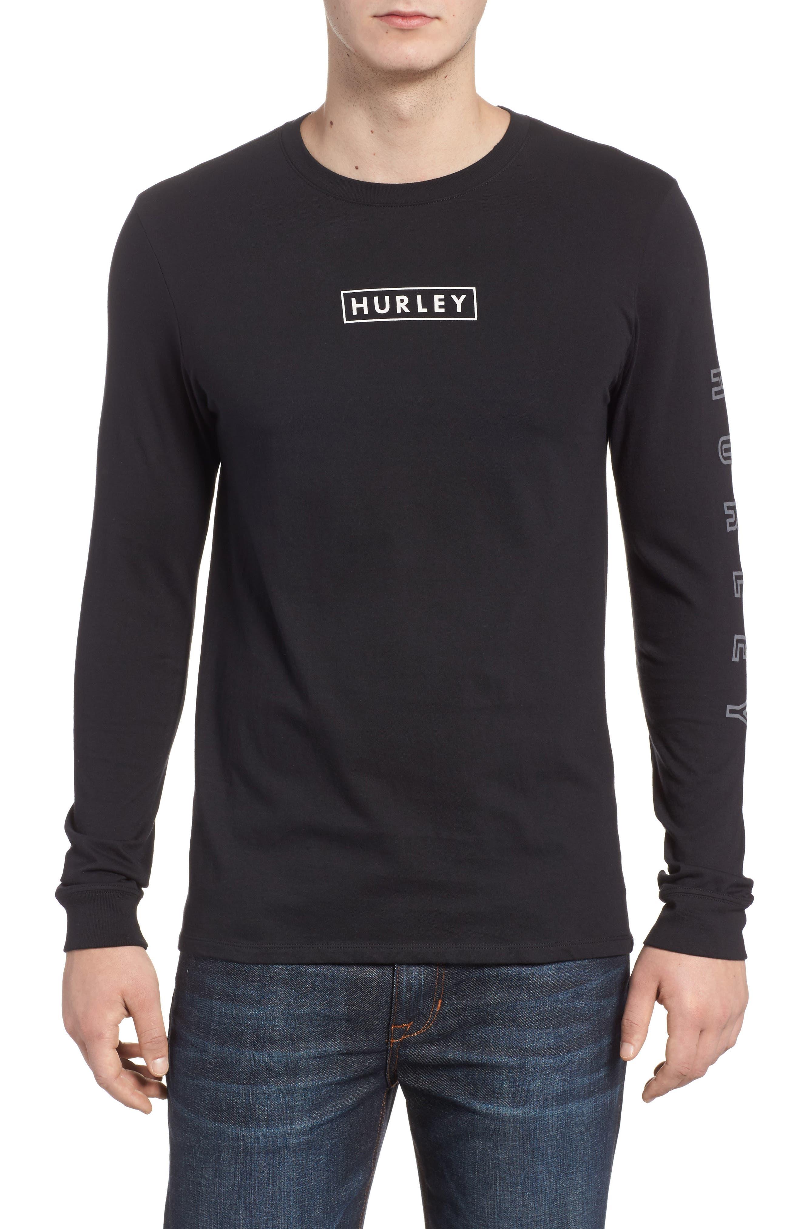 Alternate Image 1 Selected - Hurley Port Logo Graphic Long Sleeve T-Shirt