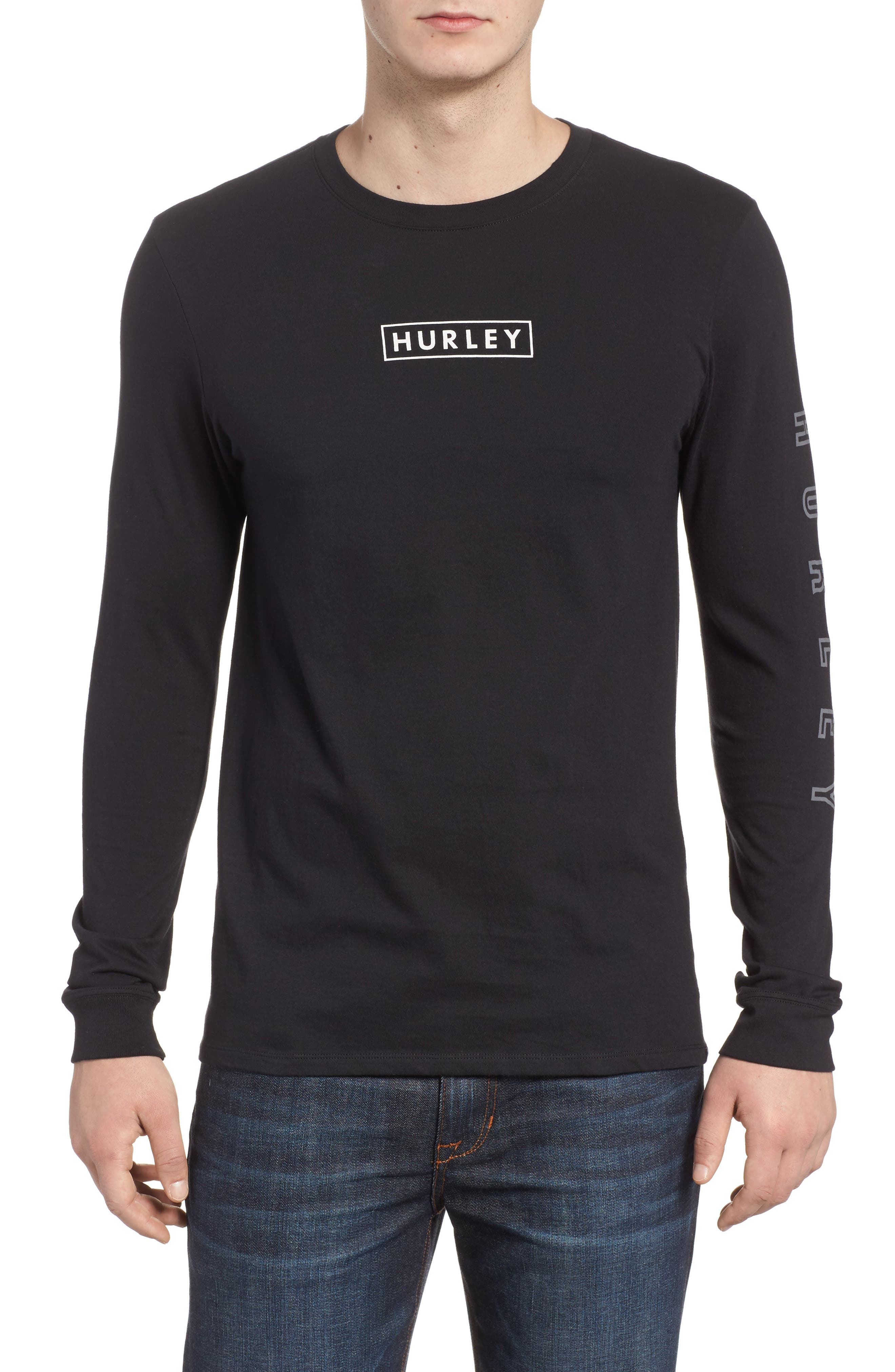 Hurley Port Logo Graphic Long Sleeve T-Shirt