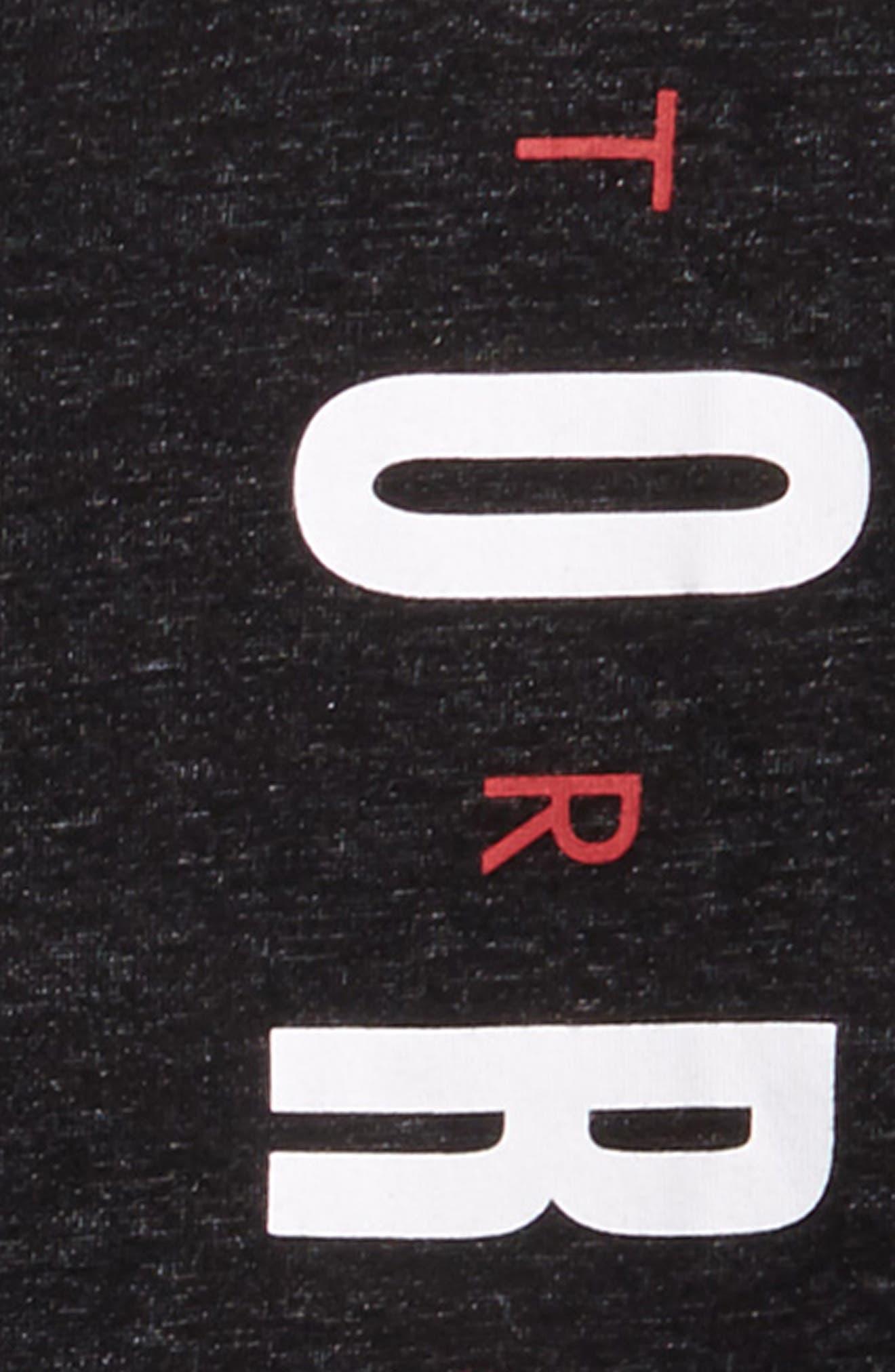 Jordan Training Dry Graphic T-Shirt,                             Alternate thumbnail 2, color,                             Black