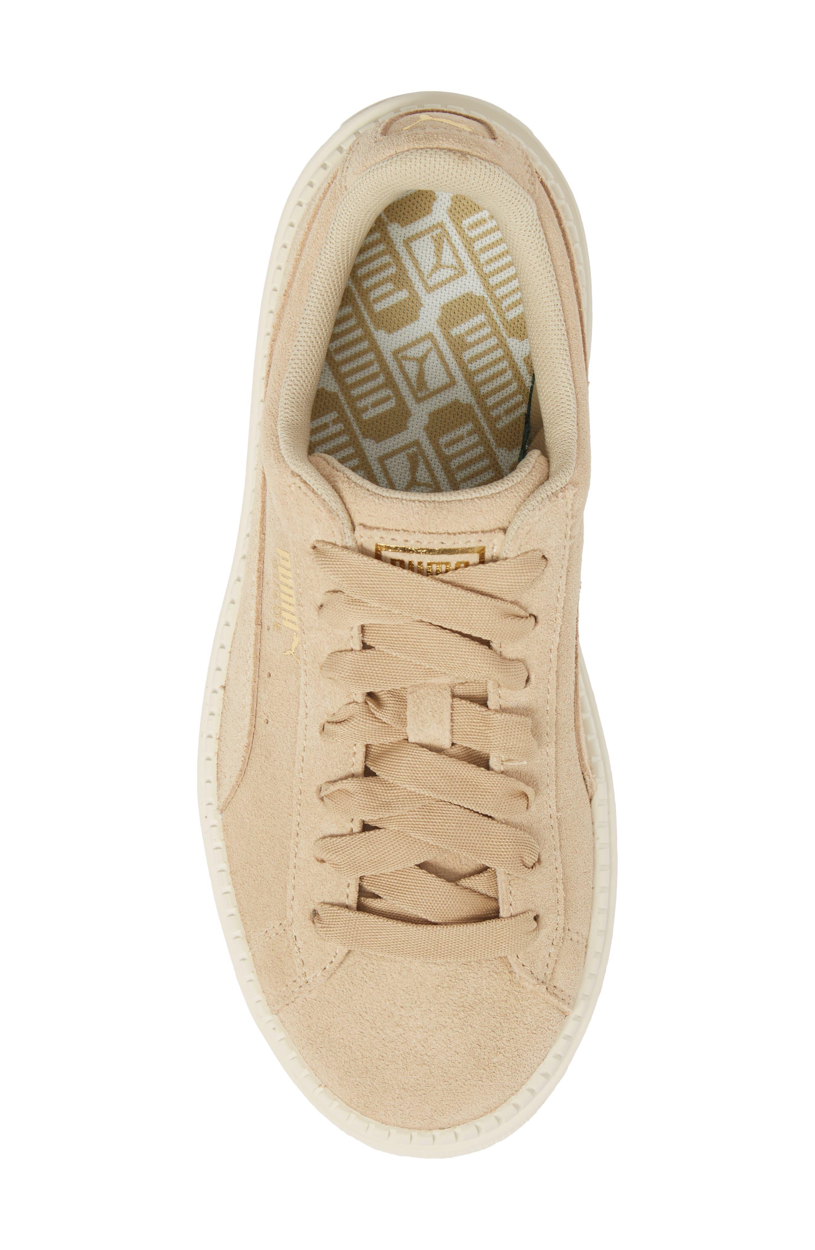 Platform Trace Sneaker,                             Alternate thumbnail 5, color,                             Safari-Marshamallow