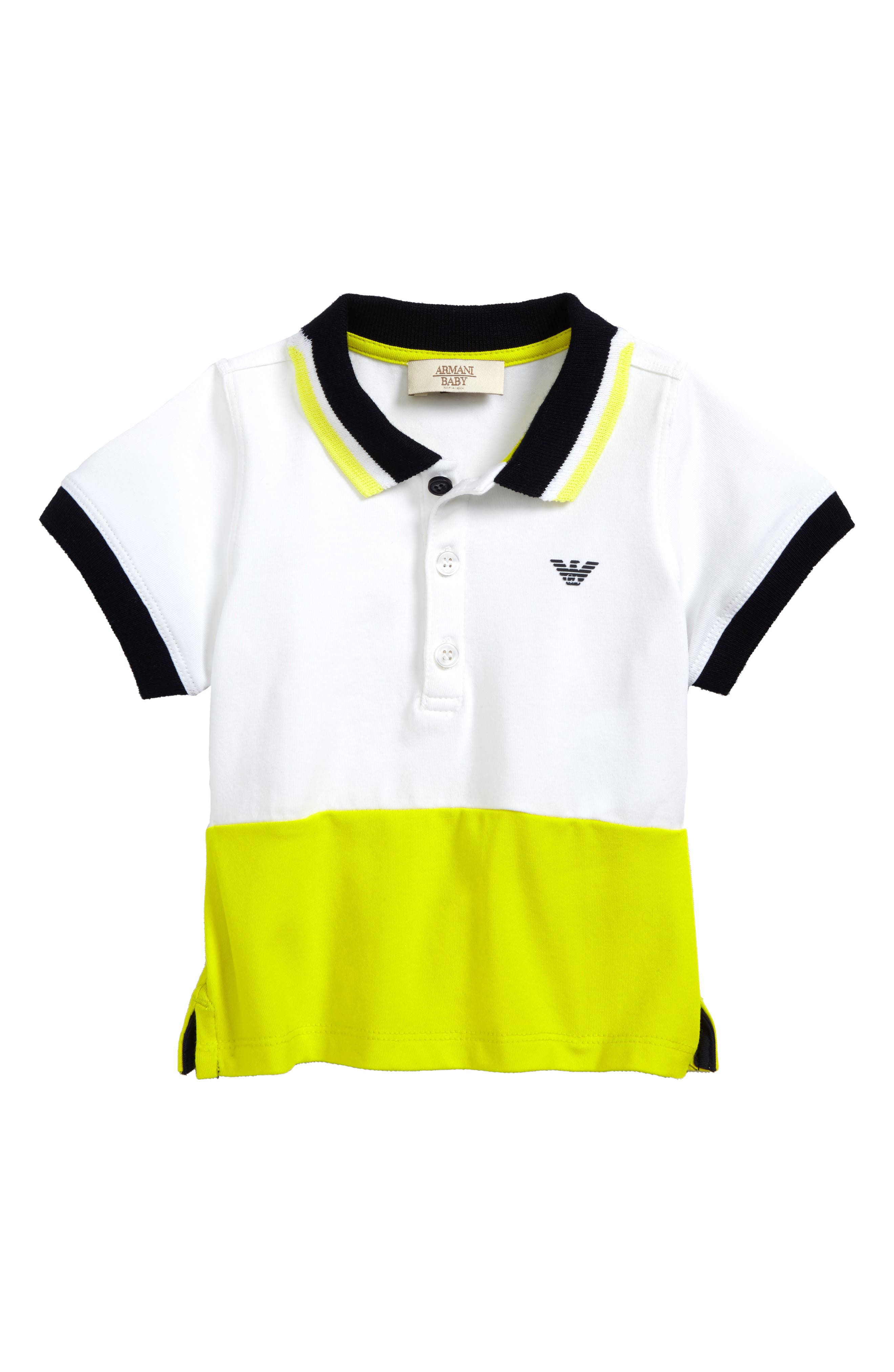 Contrast Polo,                         Main,                         color, Yellow