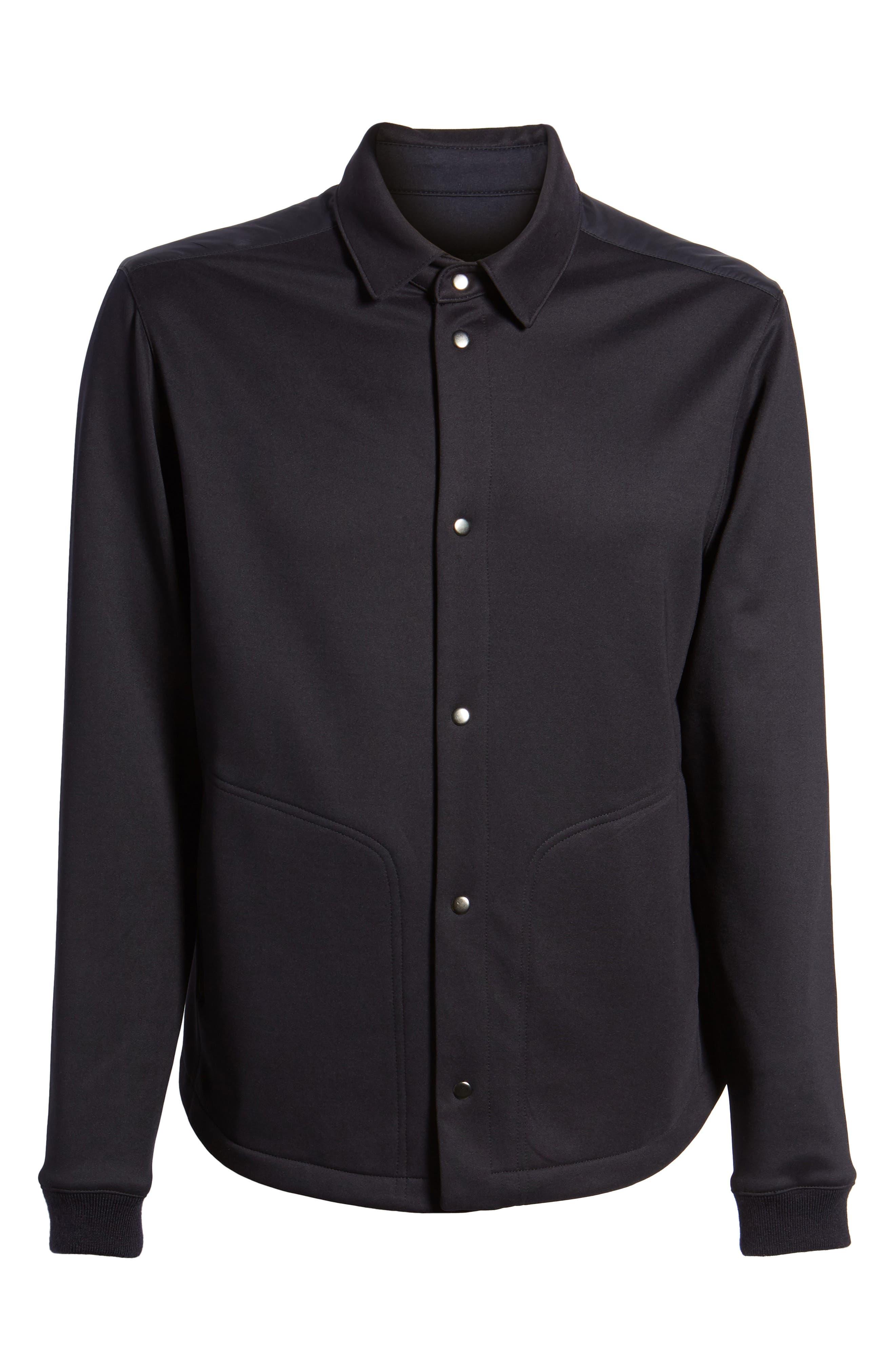 Wool Snap Jacket,                             Alternate thumbnail 6, color,                             Navy