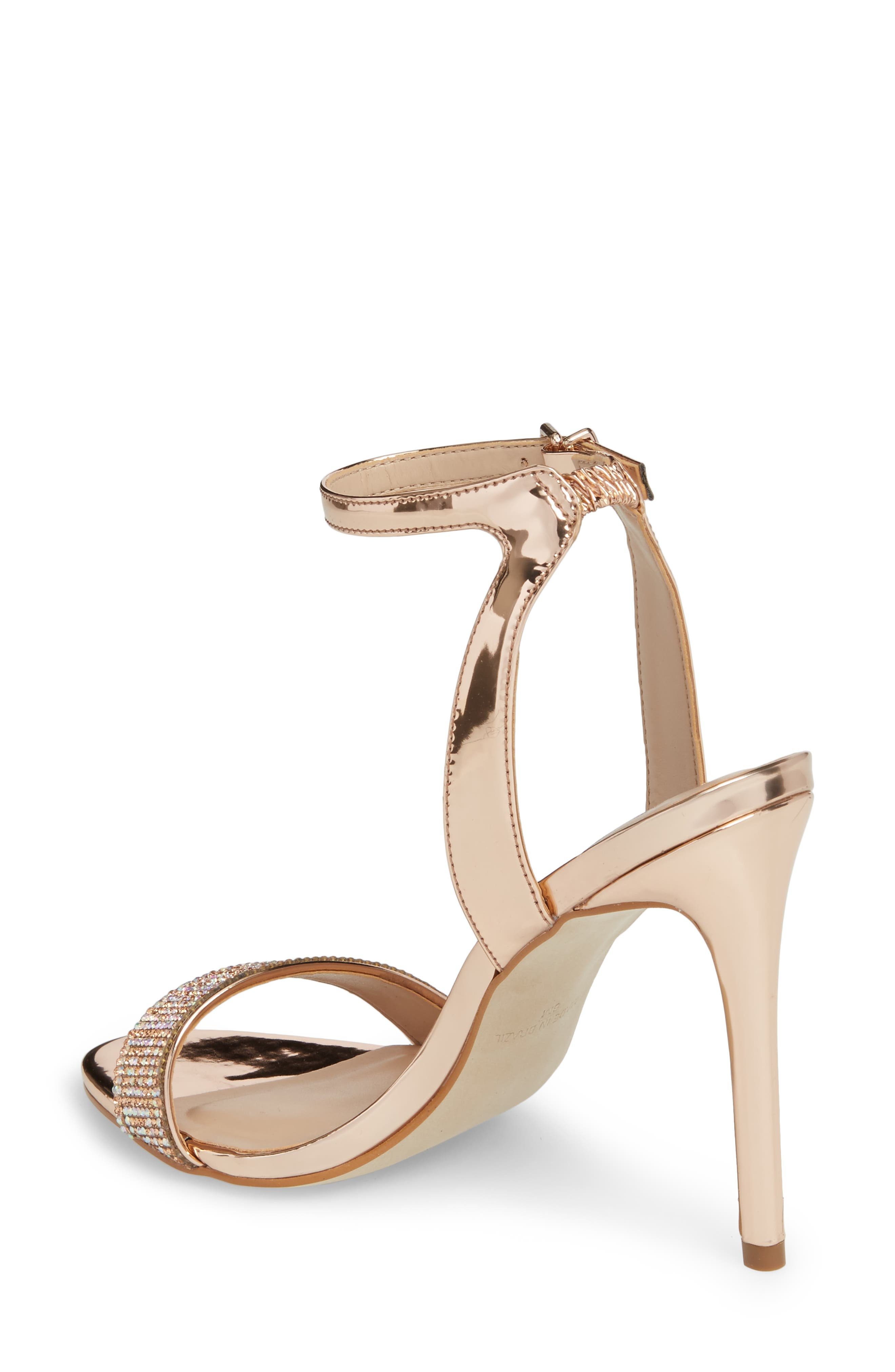 Leona Sandal,                             Alternate thumbnail 2, color,                             Rose Gold Leather