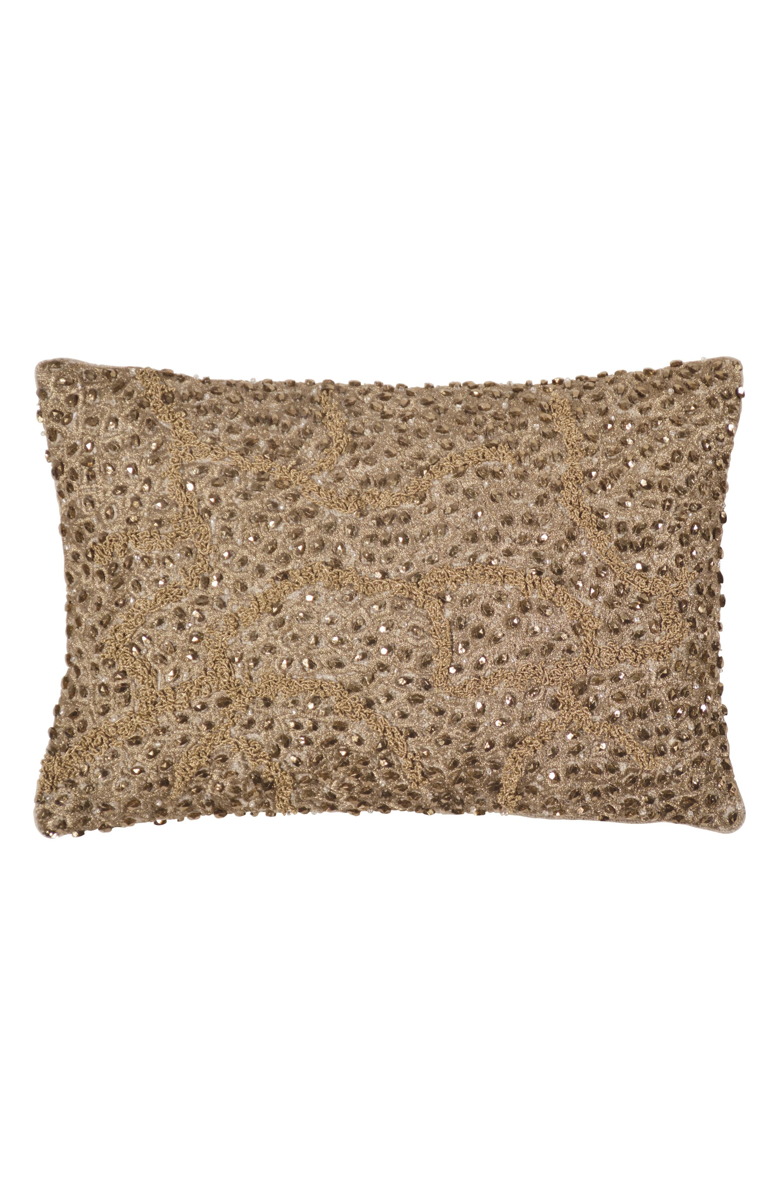 Micahel Aram Pomegranate Beaded Accent Pillow,                         Main,                         color, Gold