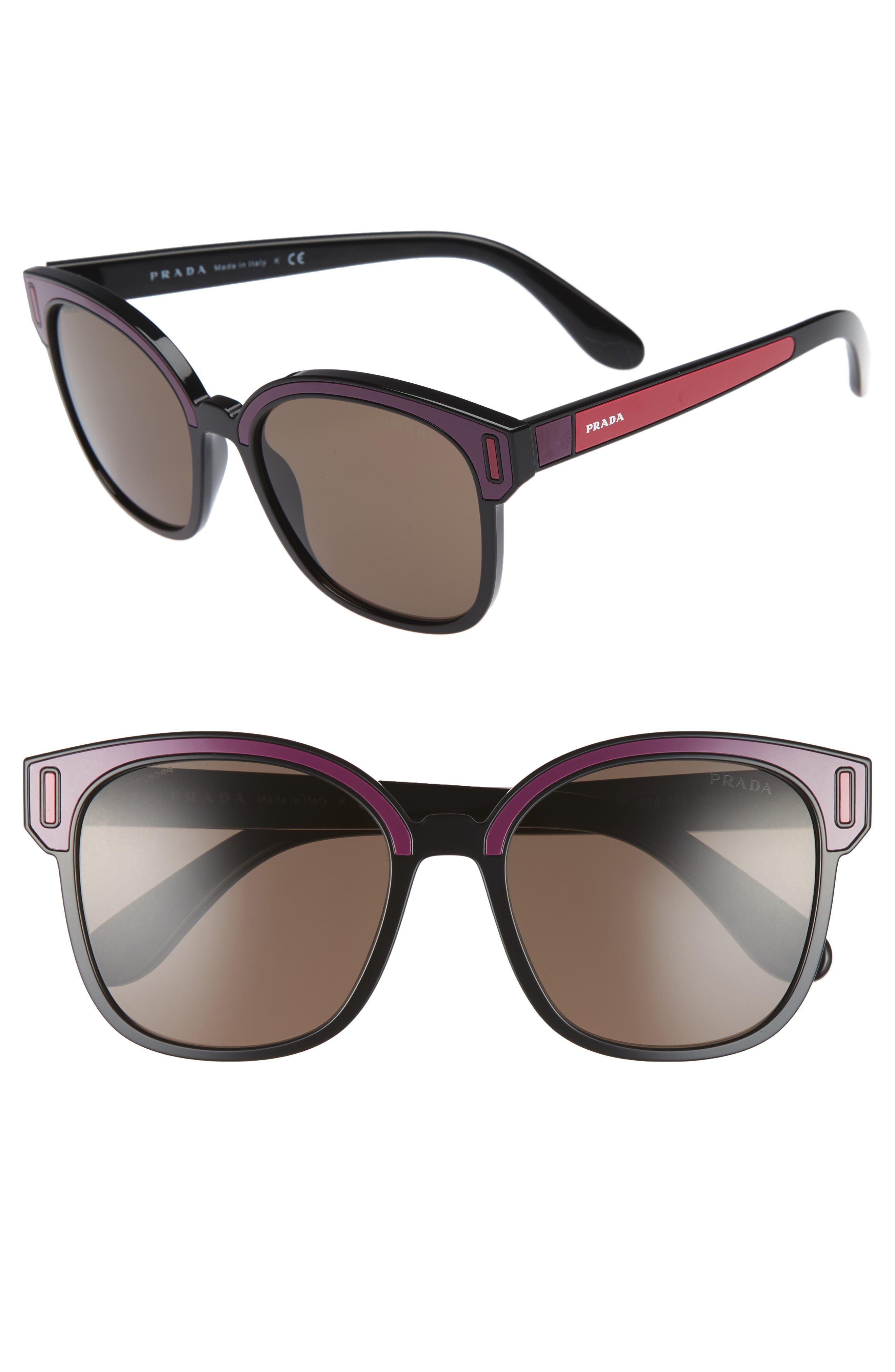 Alternate Image 1 Selected - Prada 53mm Colorblock Square Sunglasses