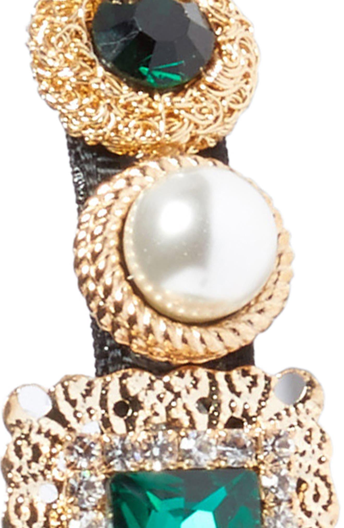 Alternate Image 2  - Cara Imitation Pearl & Crystal Headband